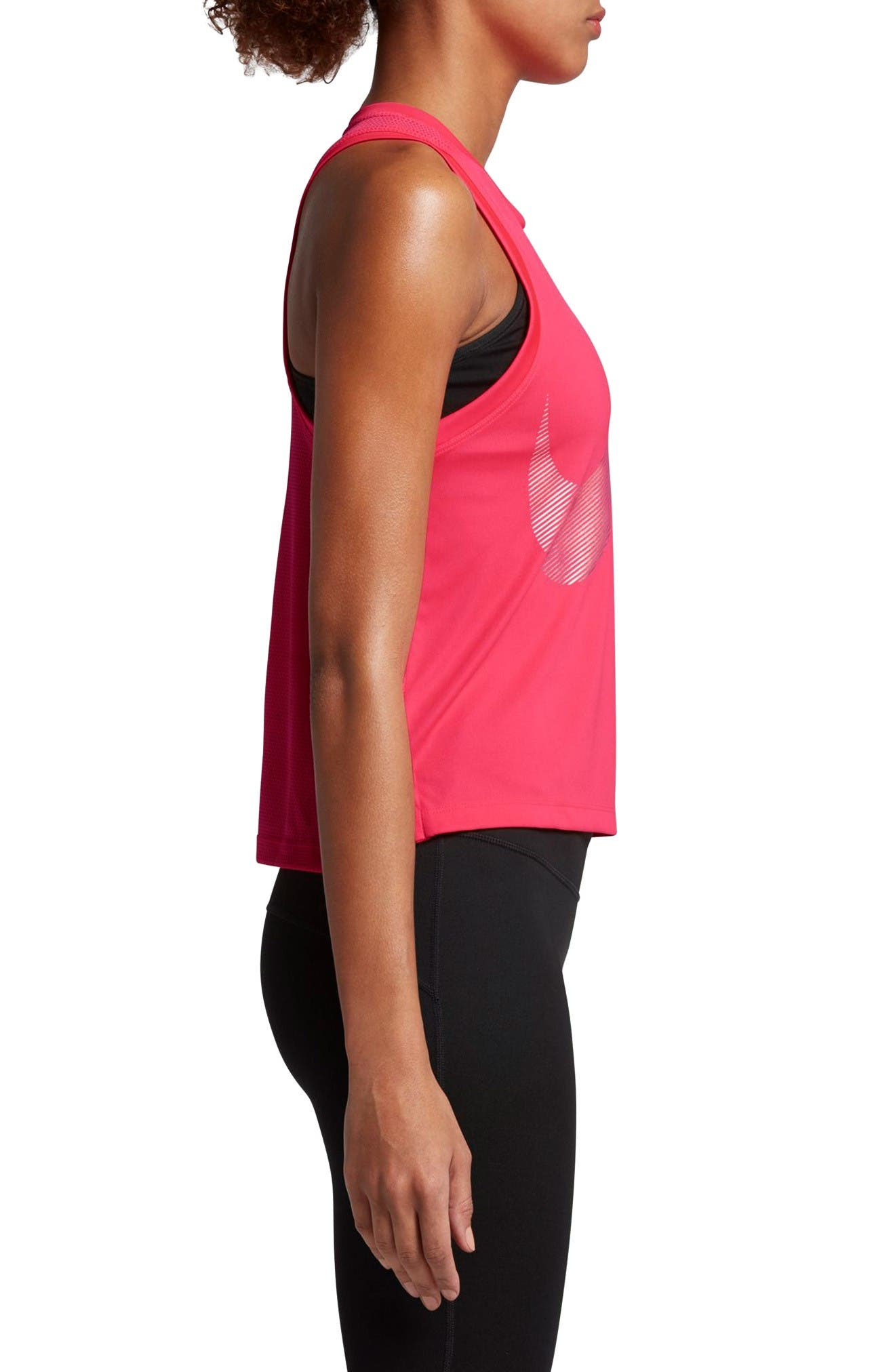 Dry City Running Tank,                             Alternate thumbnail 3, color,                             Racer Pink