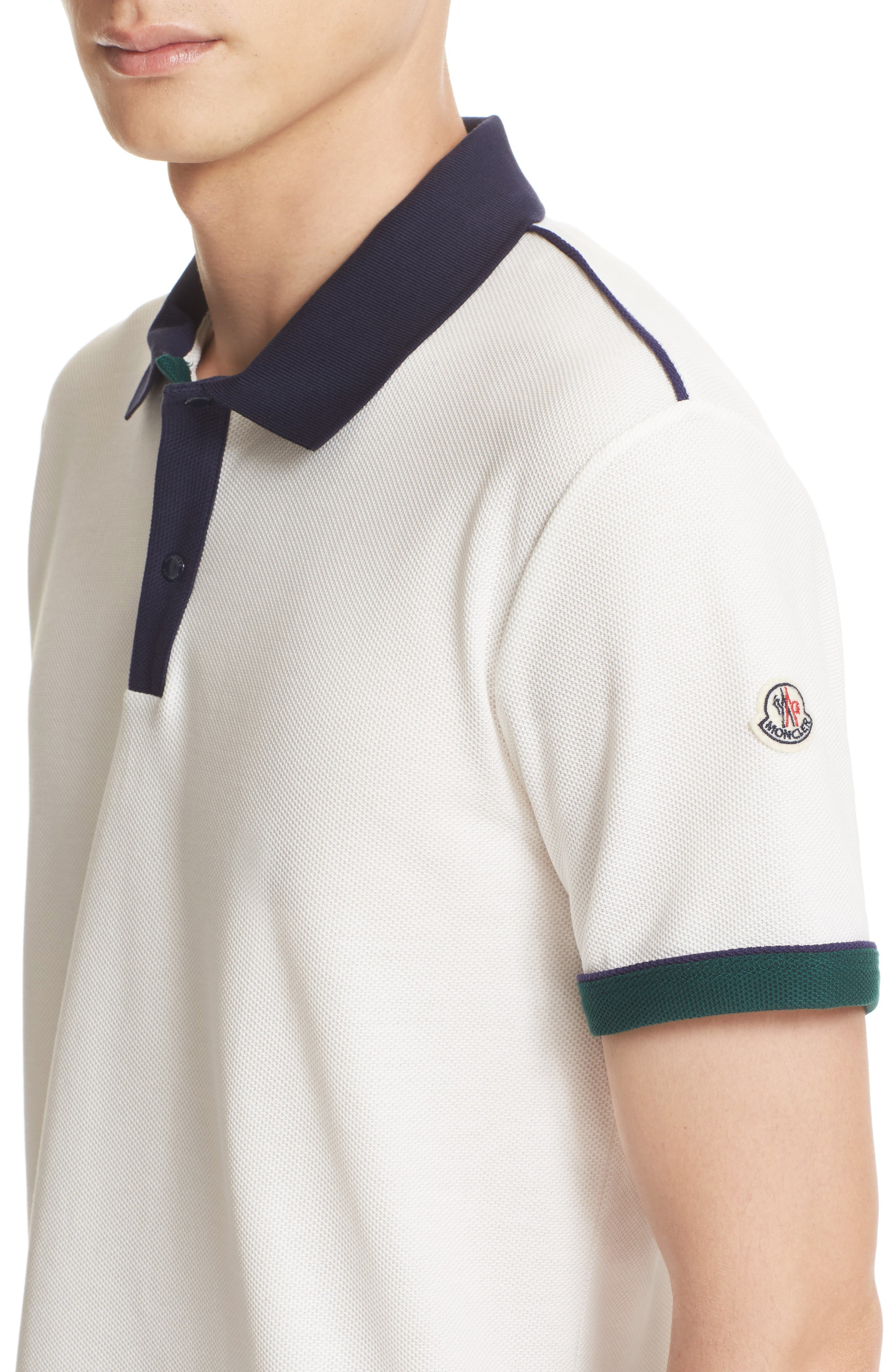 Alternate Image 4  - Moncler Snap Placket Polo