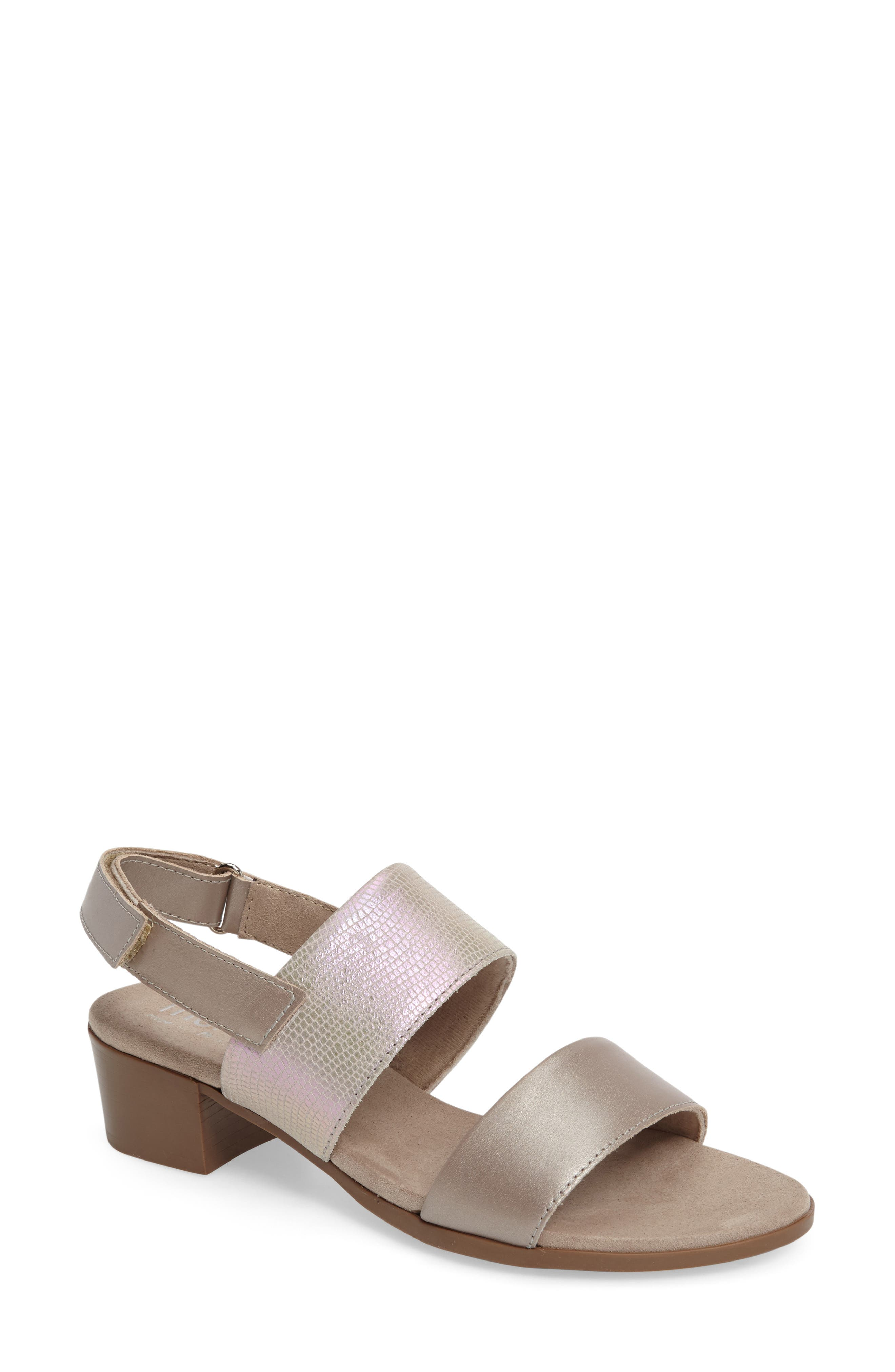 Kristal Sandal,                         Main,                         color, Pearl Metallic Lizard Leather