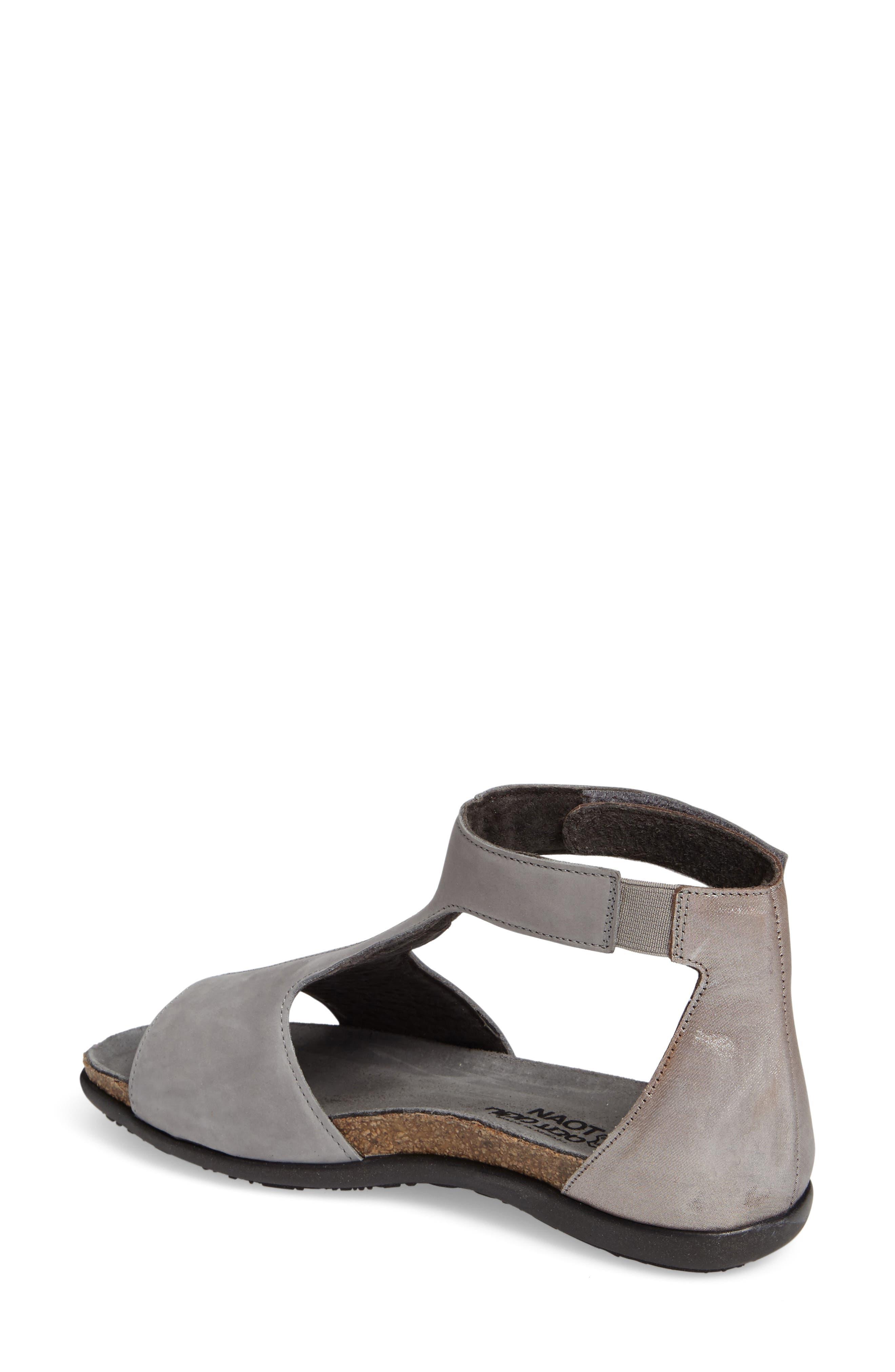 Nala Sandal,                             Alternate thumbnail 2, color,                             Grey/ Silver Nubuck Leather