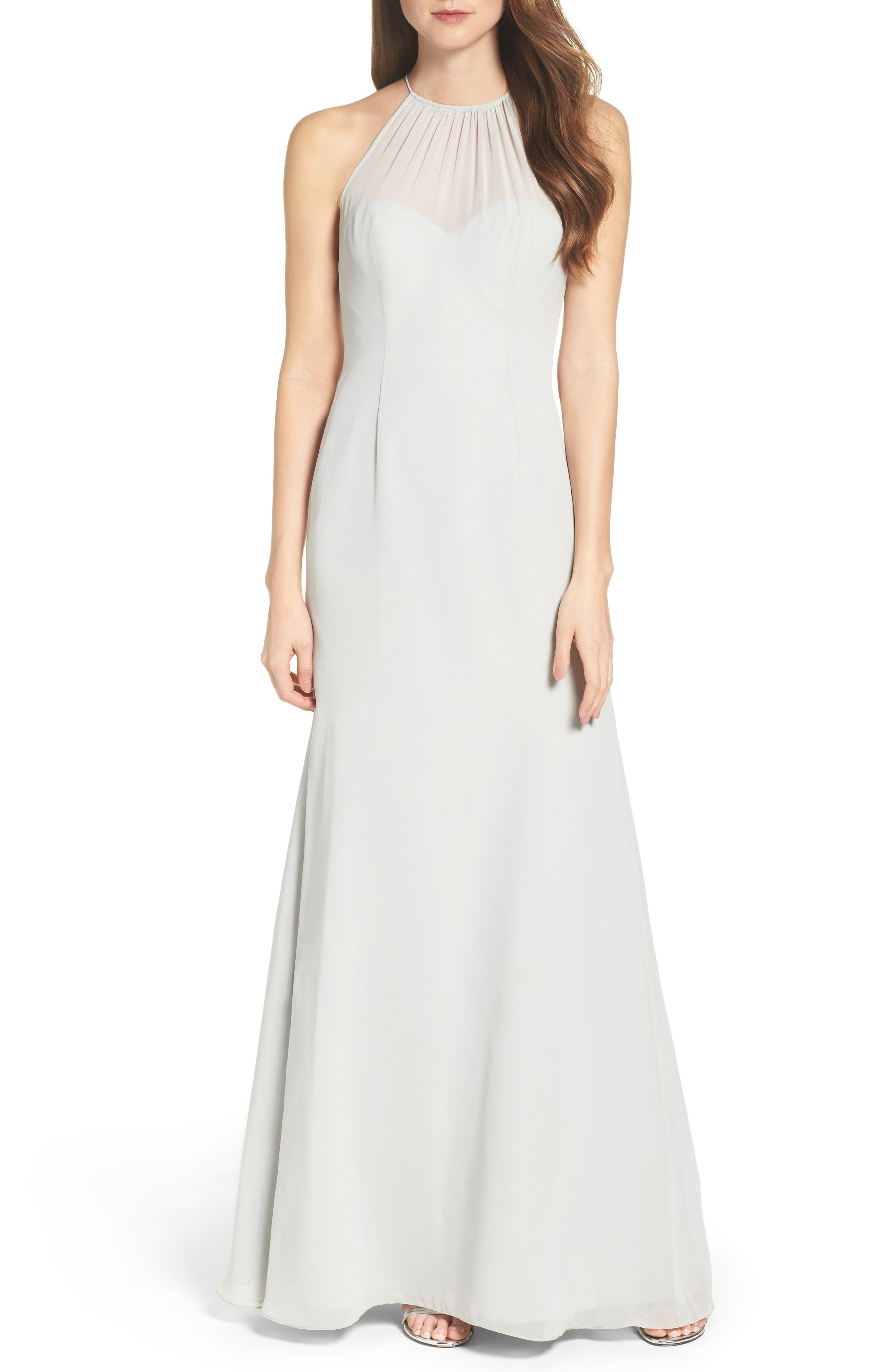 Alternate Image 1 Selected - WTOO Chiffon A-Line Gown