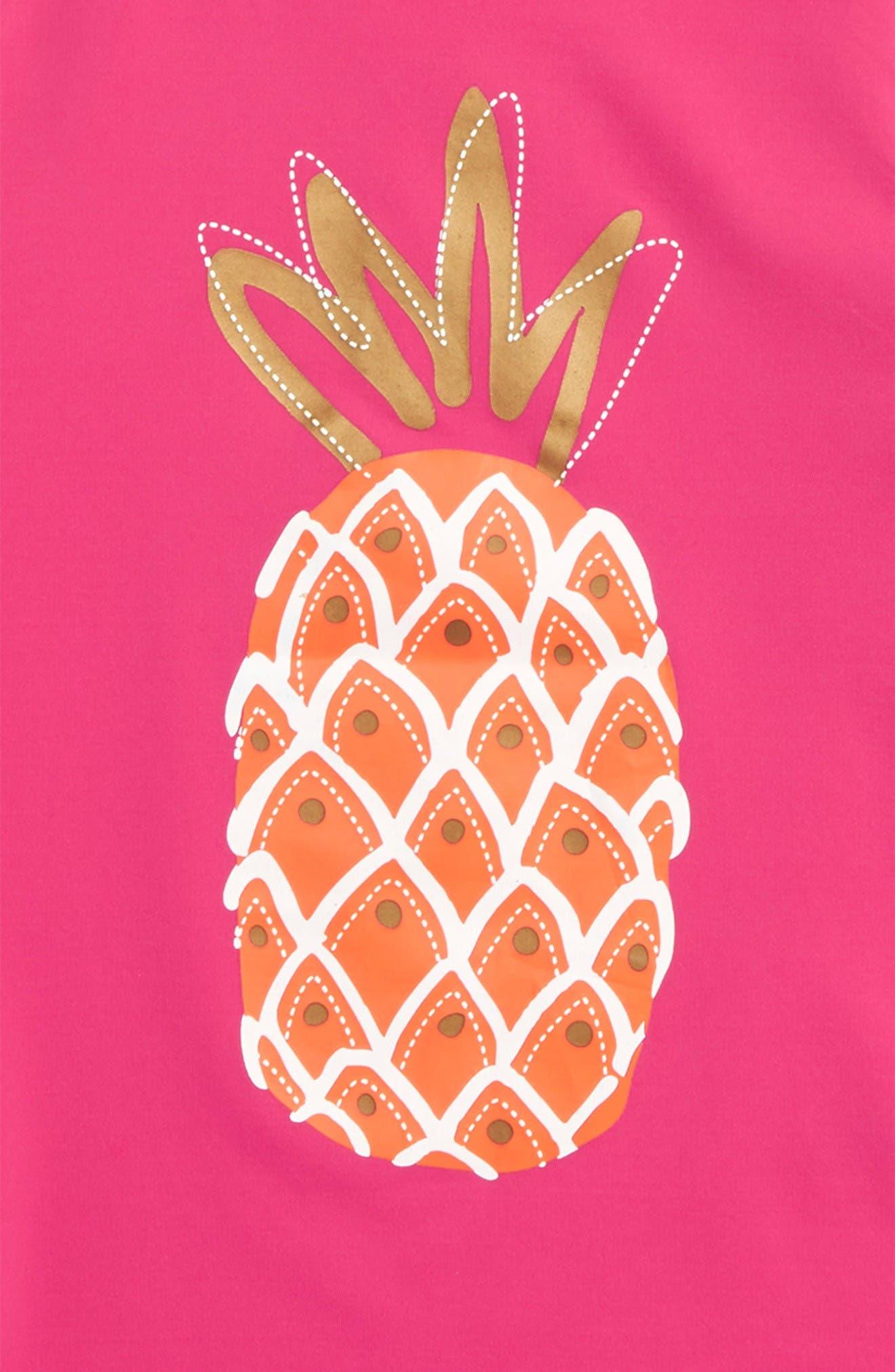 Alternate Image 2  - Hatley Tropical Pineapple Rashguard (Toddler Girls, Little Girls & Big Girls)