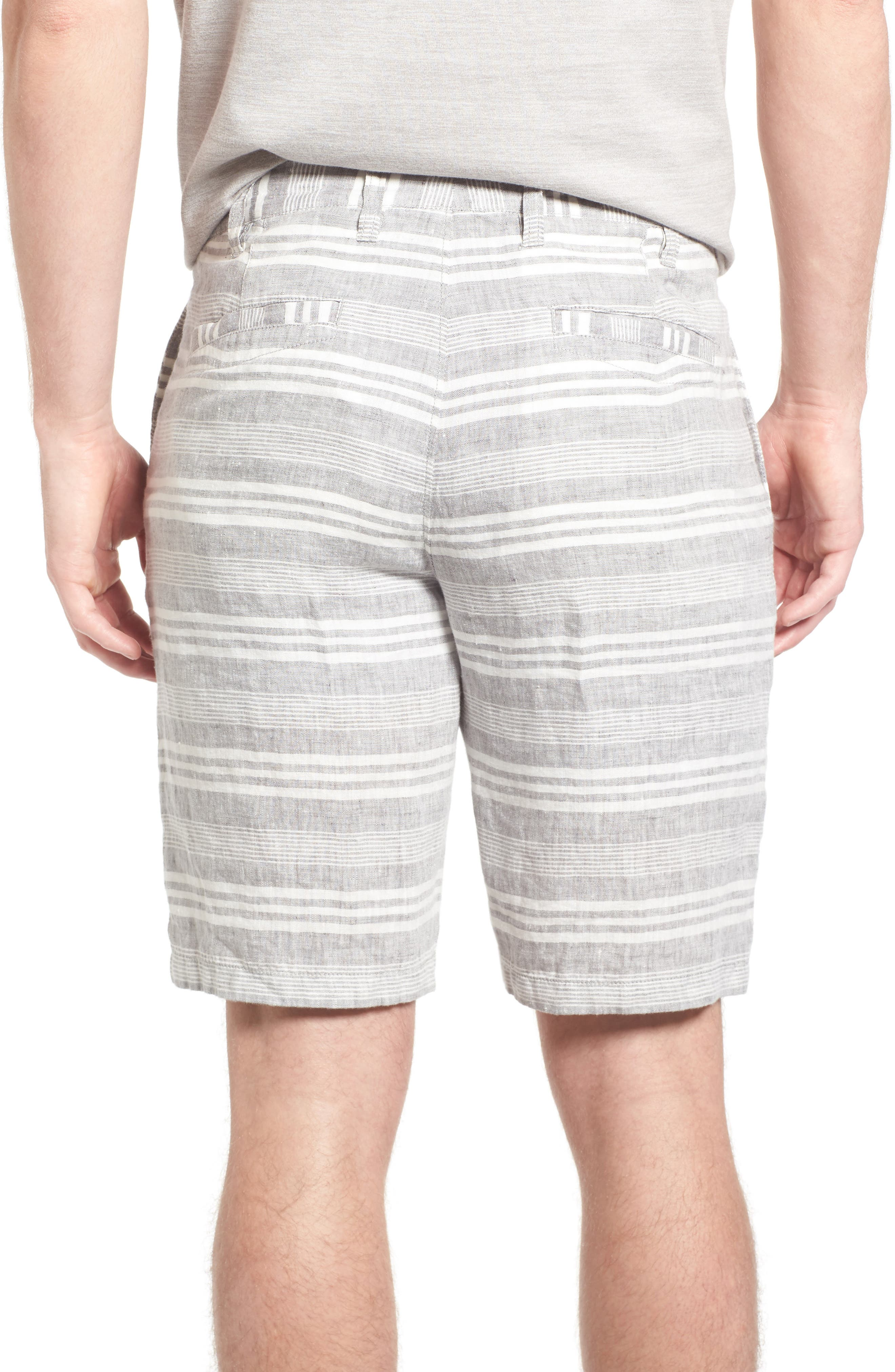 Alternate Image 2  - 1901 Stripe Linen Shorts