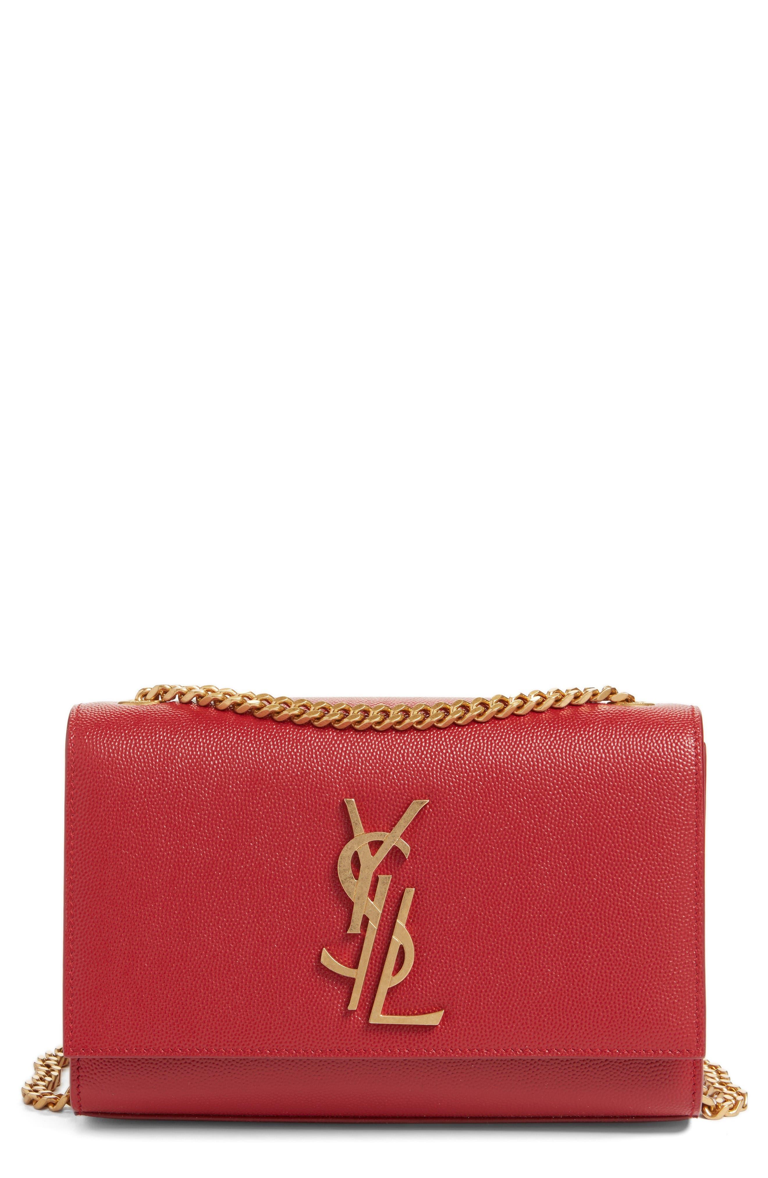 Alternate Image 1 Selected - Saint Laurent Small Kate Calfskin Leather Crossbody Bag