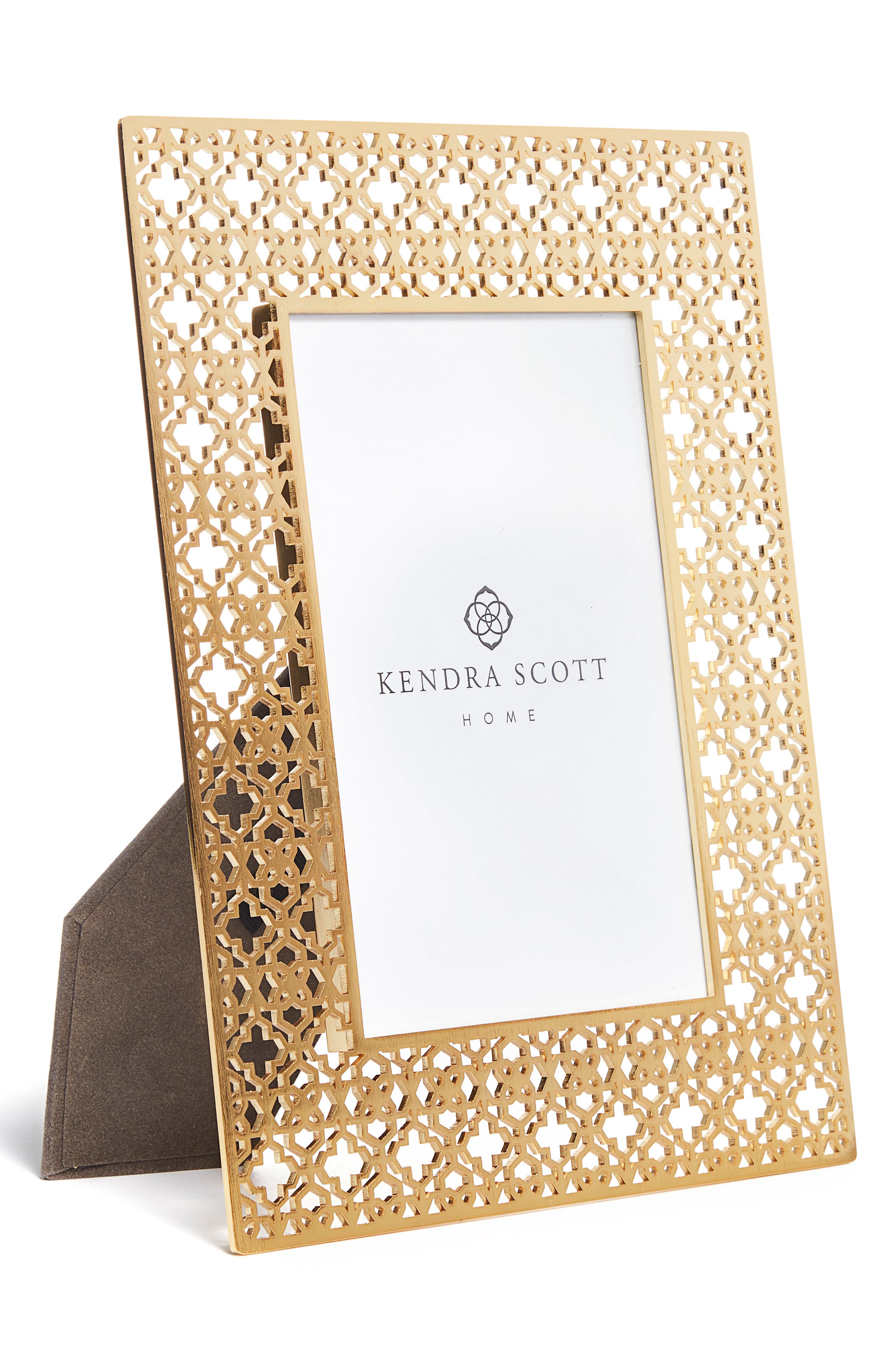 Filigree Picture Frame,                             Alternate thumbnail 2, color,                             Bright Brass