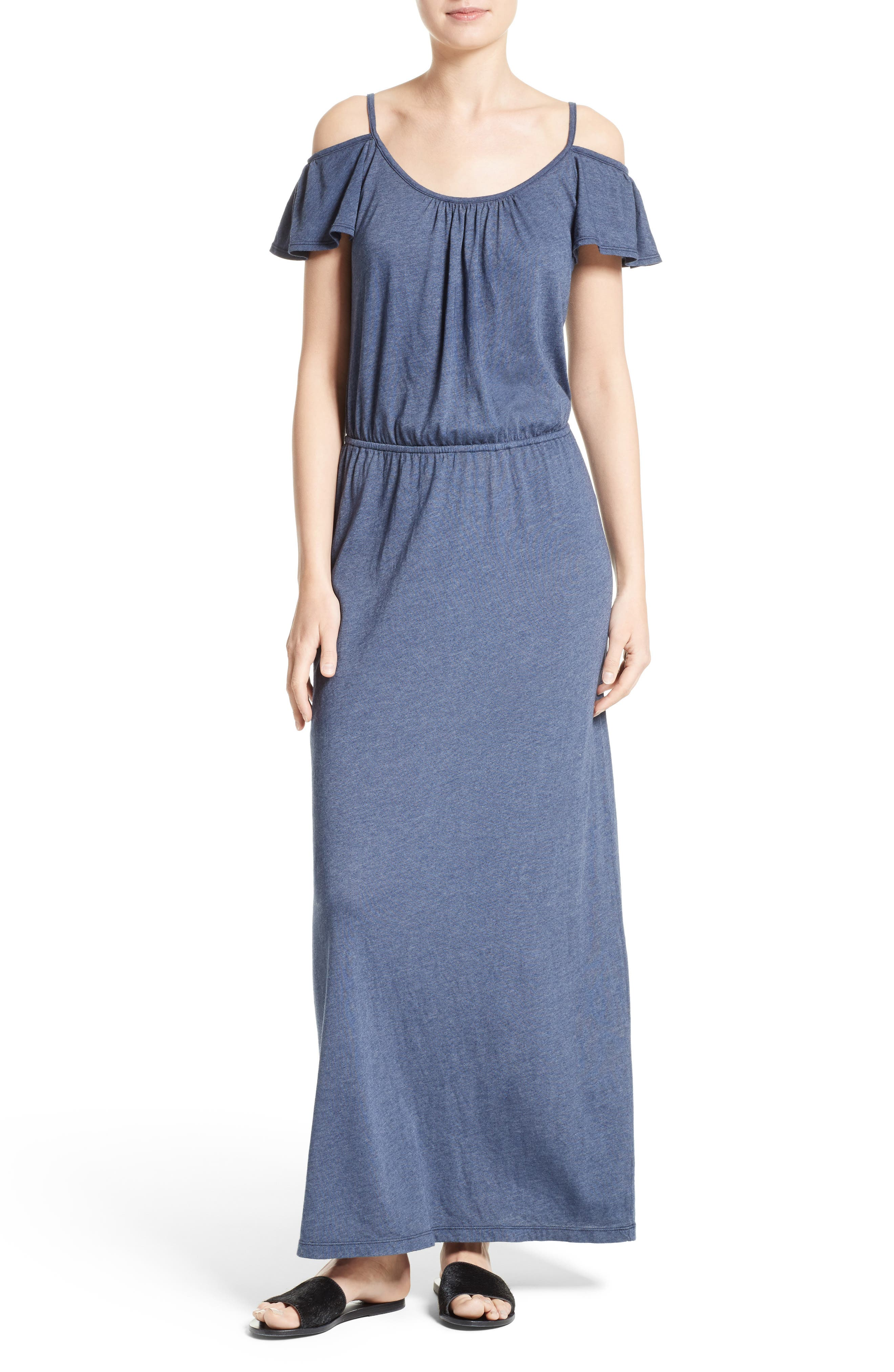 Jassina Jersey Maxi Dress,                             Main thumbnail 1, color,                             Dark Navy