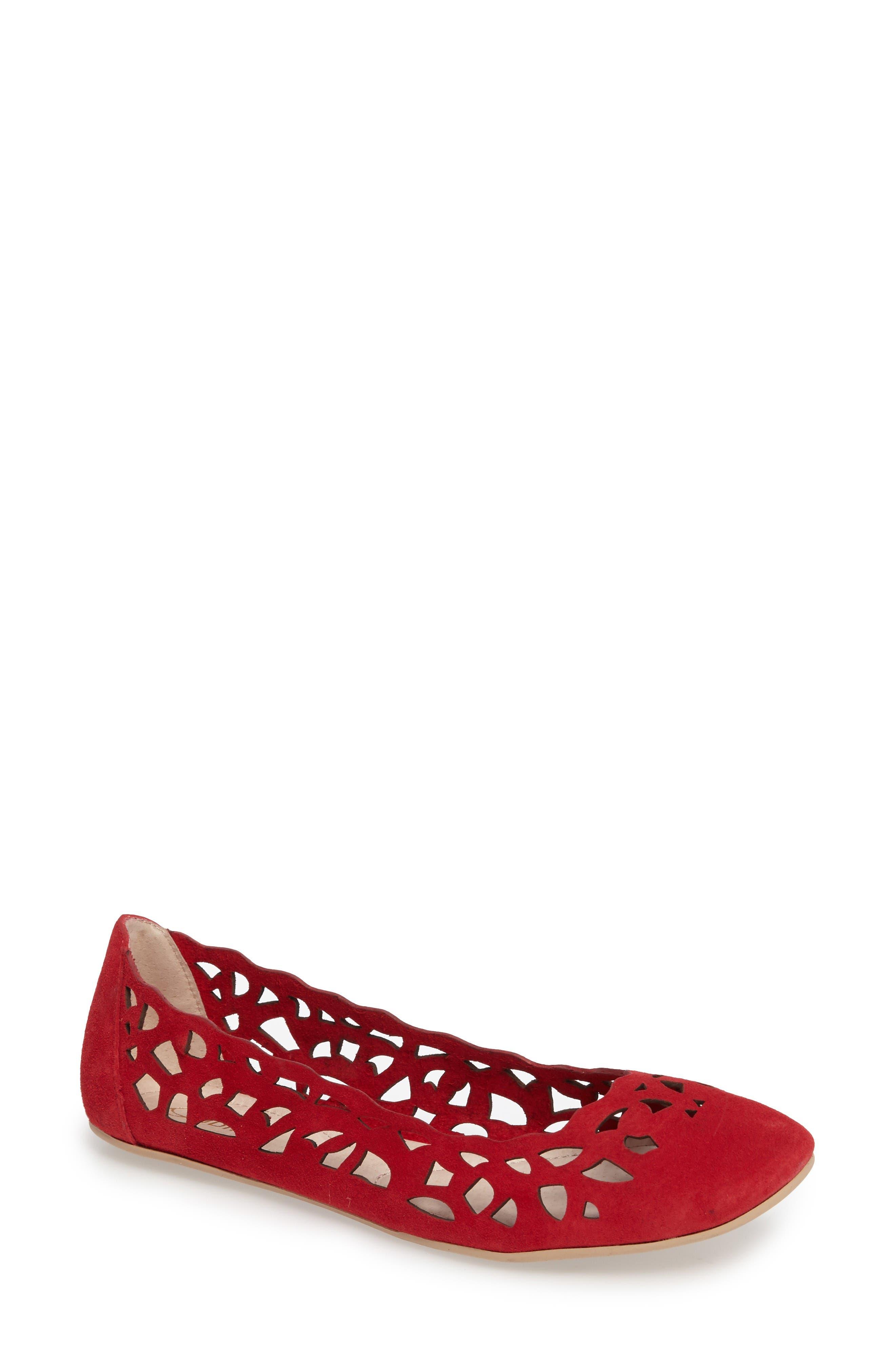 Alternate Image 1 Selected - Sudini Sonya Perforated Flat (Women)