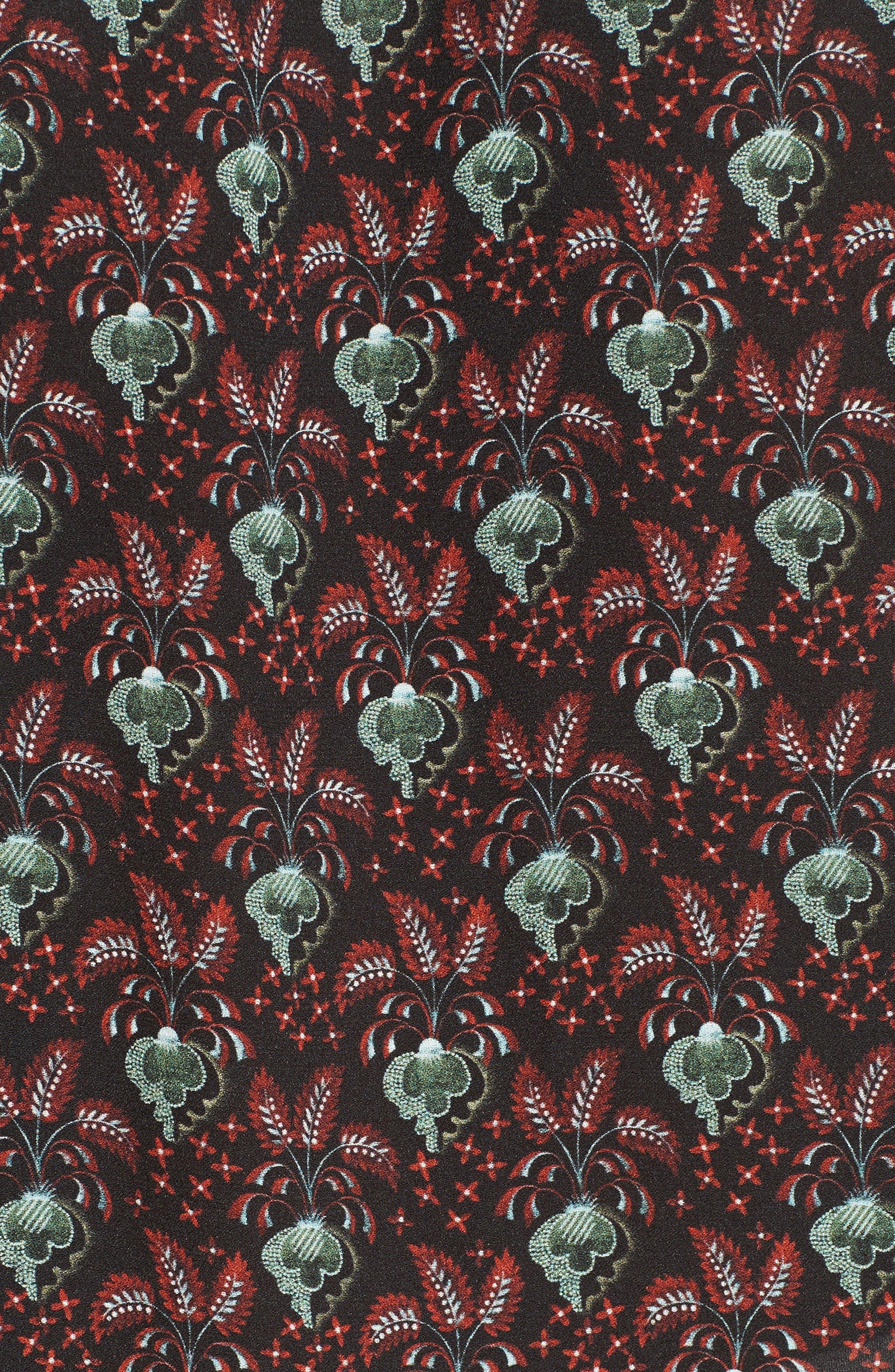 Alternate Image 5  - A.L.C. Floral Print Silk Top