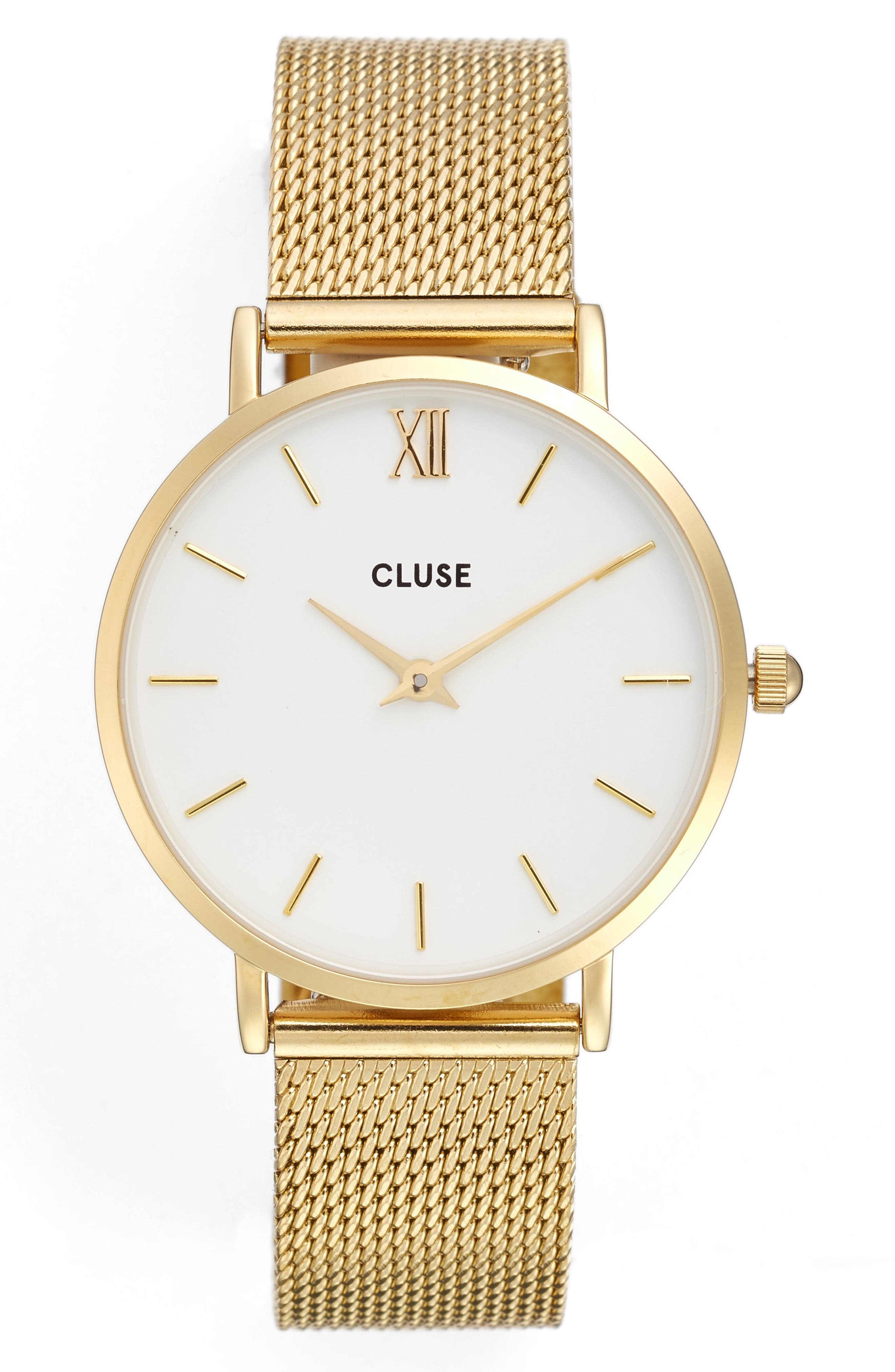 Alternate Image 1 Selected - CLUSE Minuit Mesh Strap Watch, 33mm