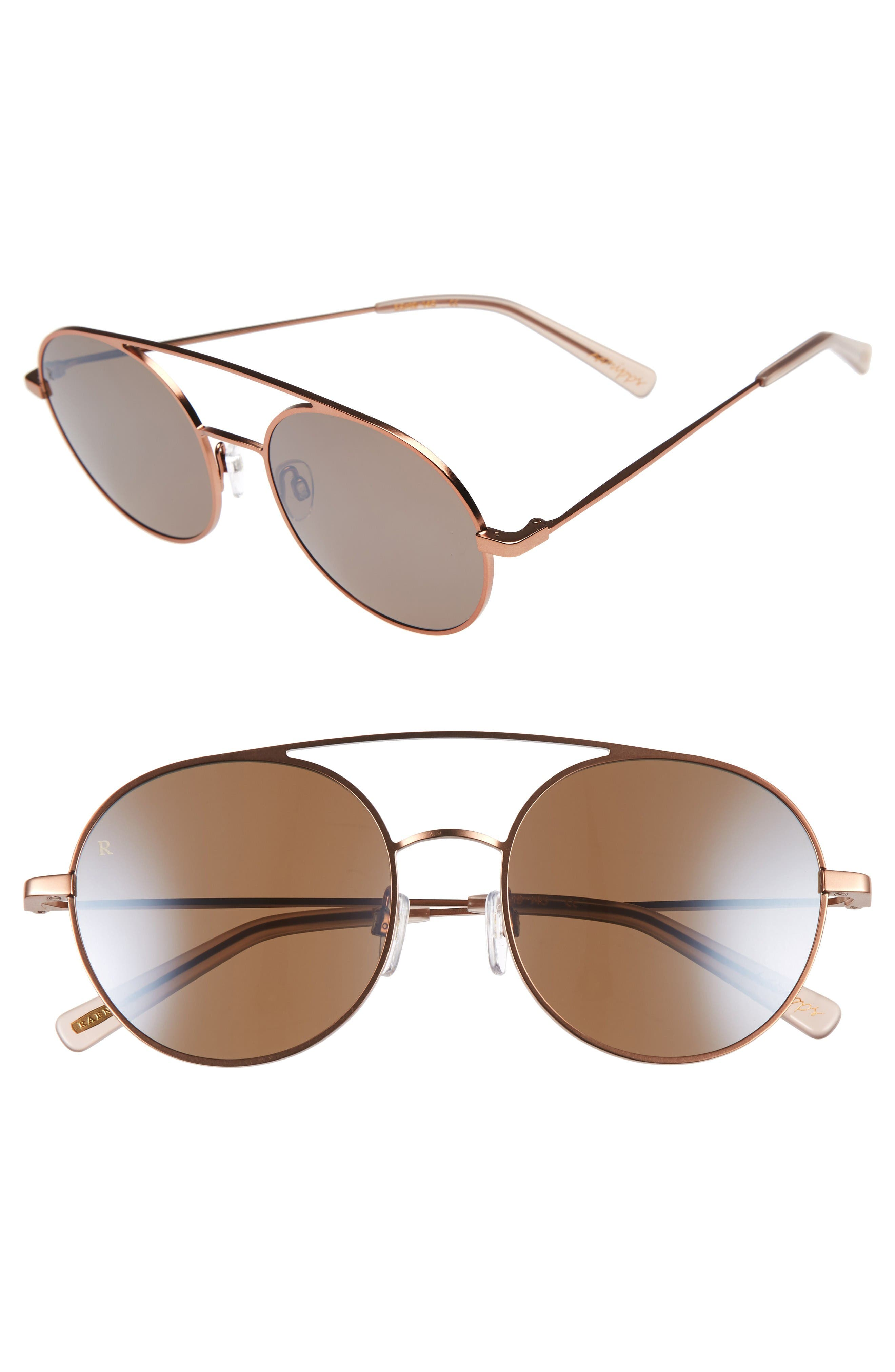 Scripps 55mm Round Sunglasses,                         Main,                         color, Rose Gold/ Flesh