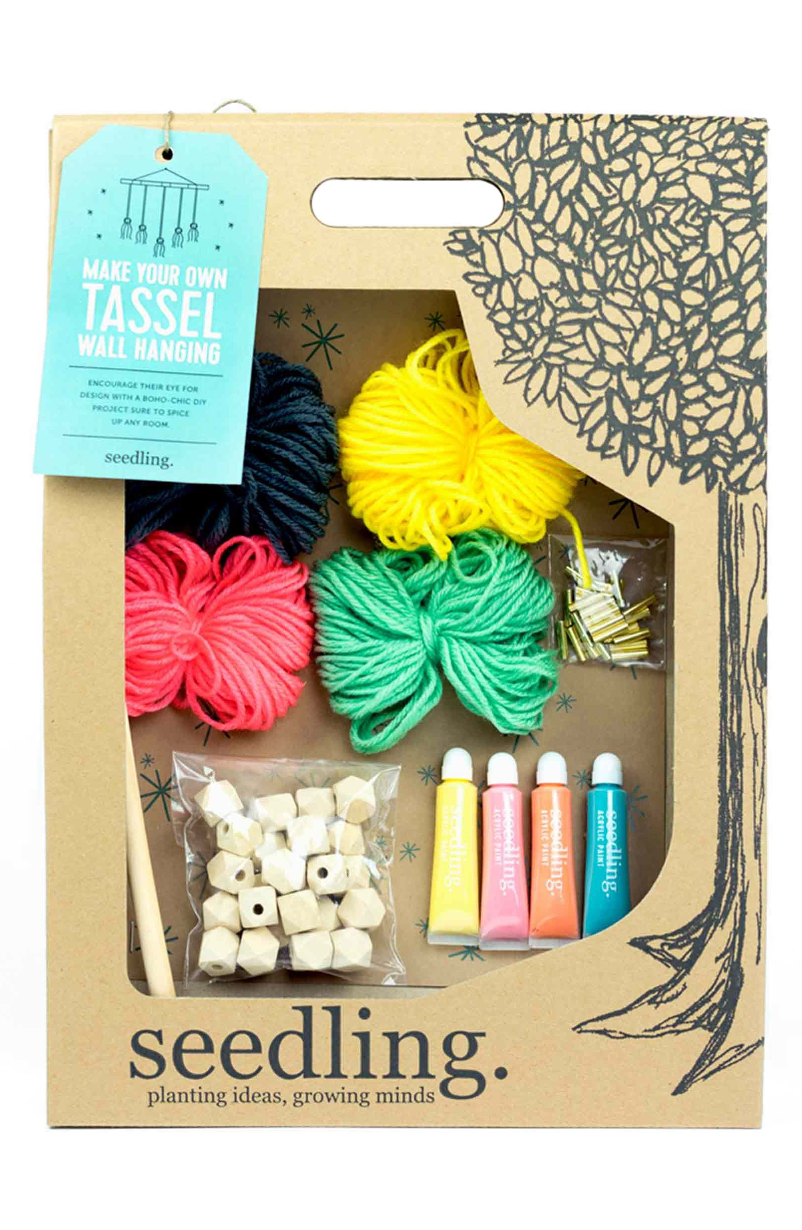 Make Your Own Tassel Wall Hanging,                             Main thumbnail 1, color,                             Multi