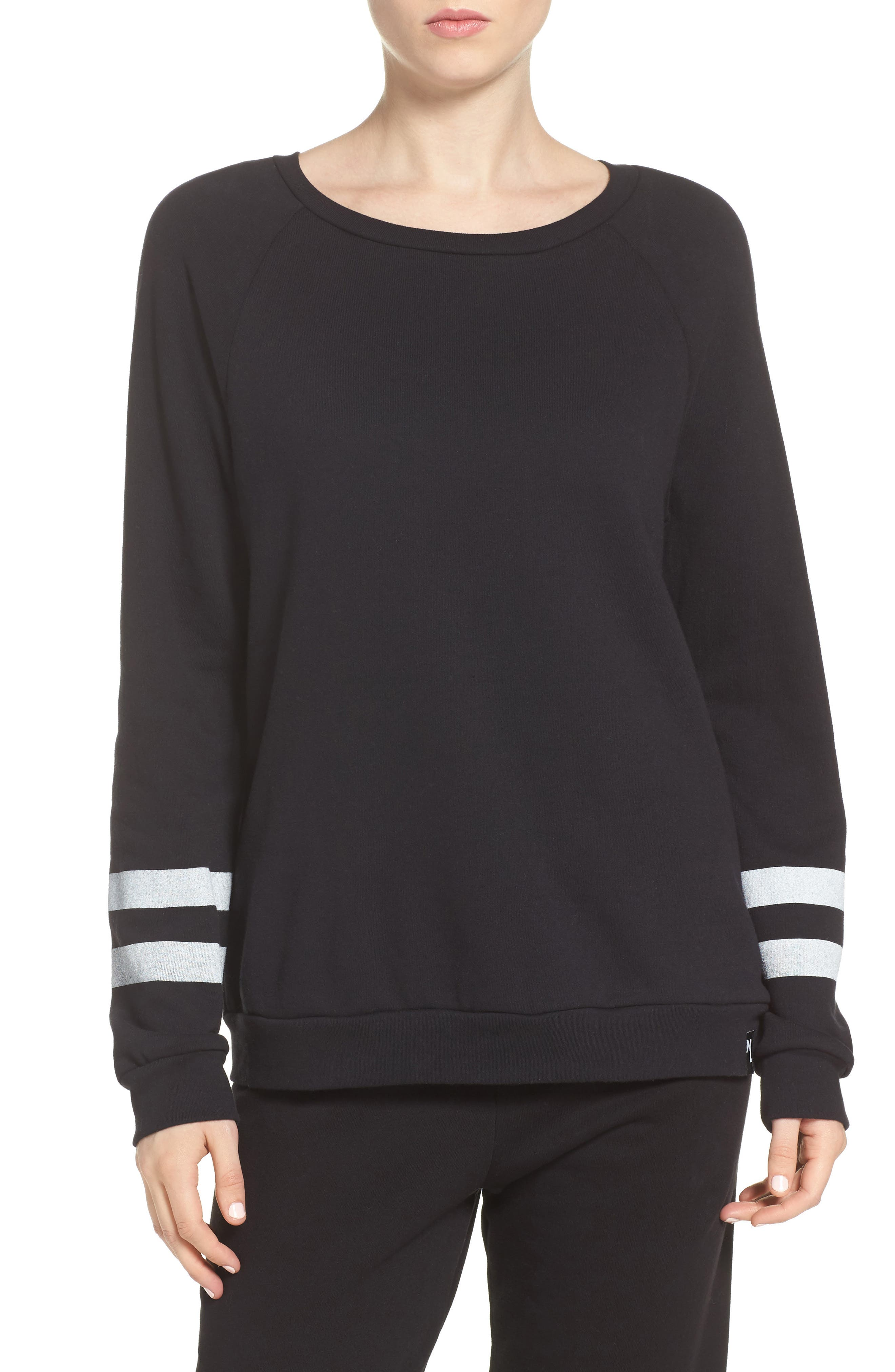 Oswald Lounge Pullover,                         Main,                         color, Black