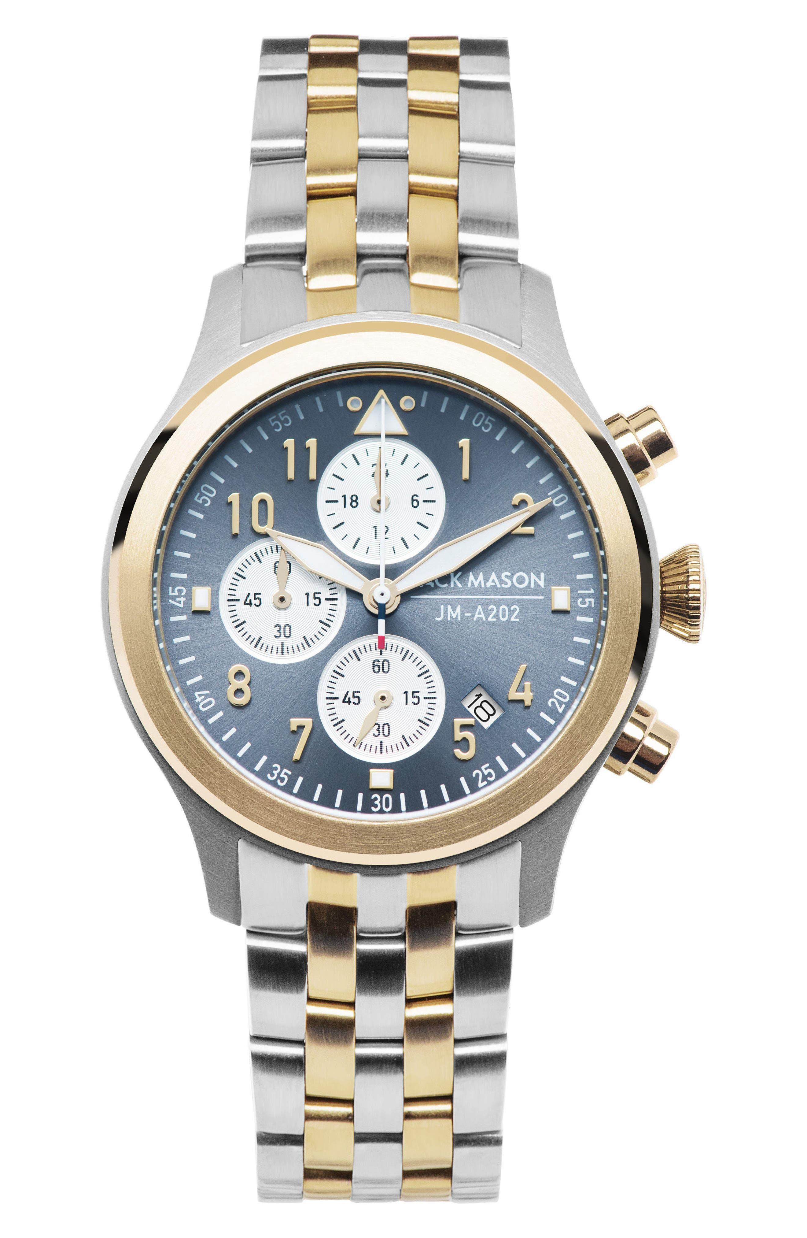 Aviation Chronograph Bracelet Watch, 36mm,                             Main thumbnail 1, color,                             Two Tone/ Grey/ Gold