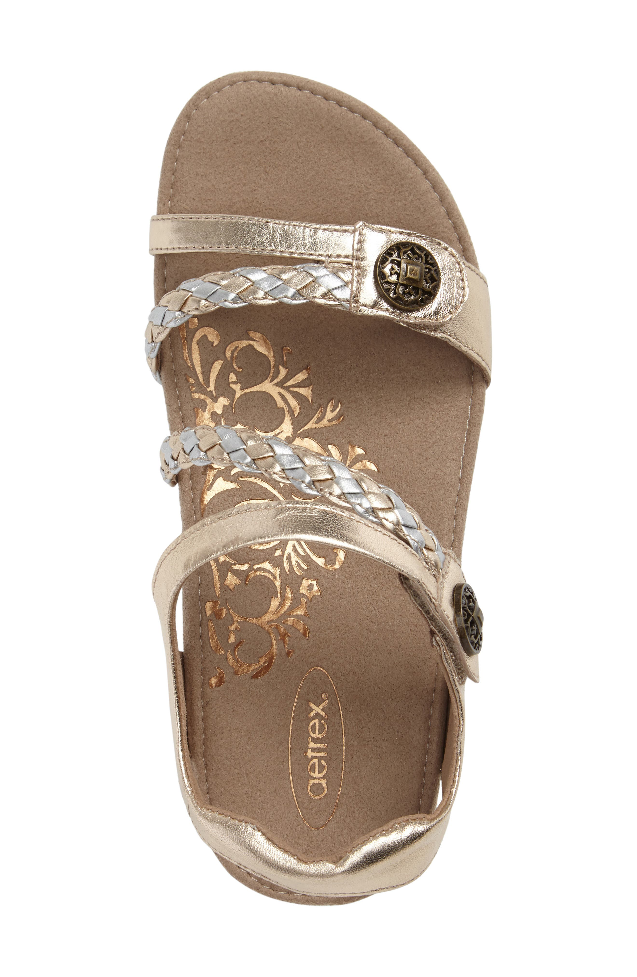 Alternate Image 3  - Aetrex 'Jillian' Braided Leather Strap Sandal (Women)