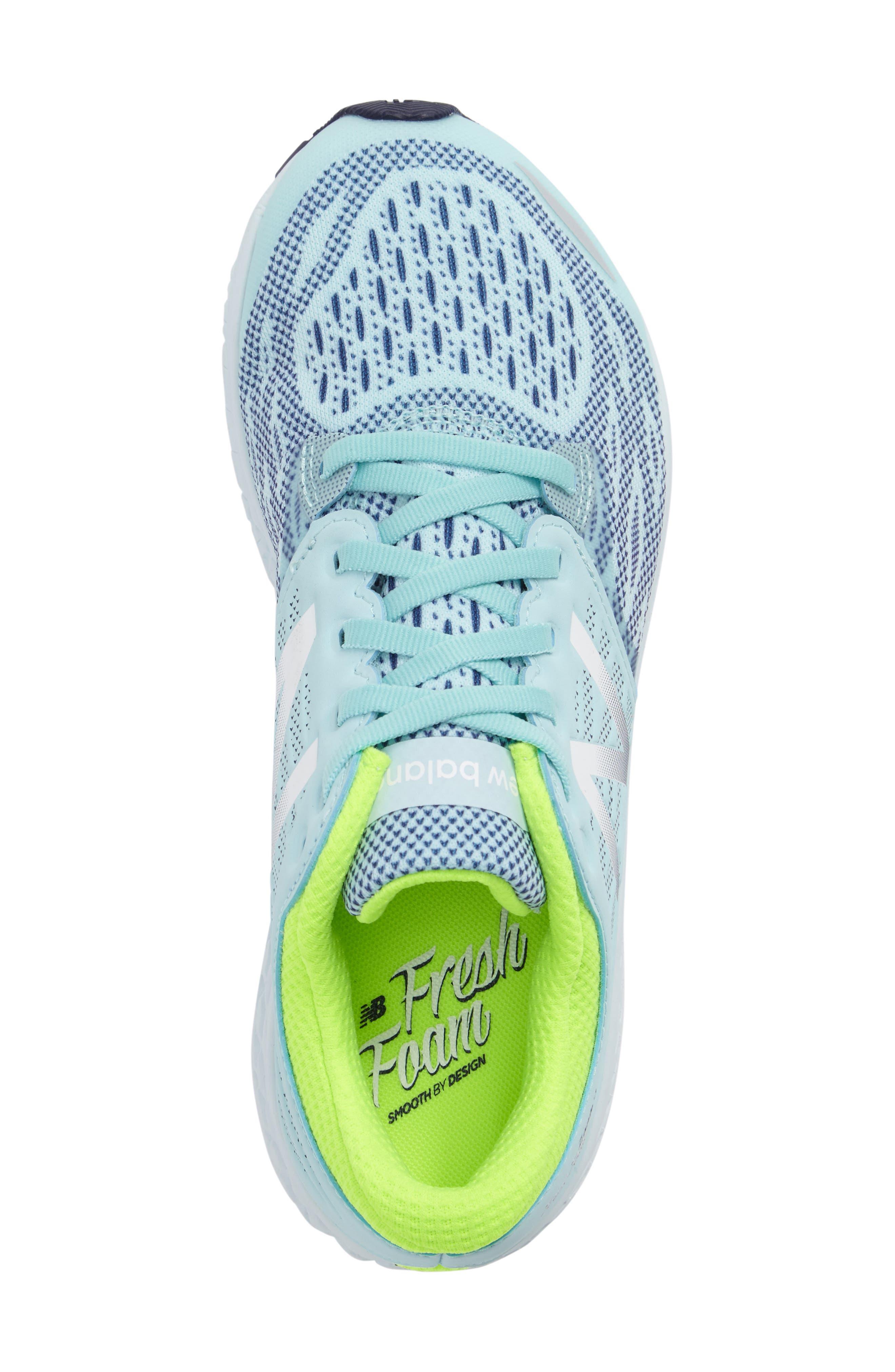Fresh Foam Sneaker,                             Alternate thumbnail 3, color,                             Teal/Green