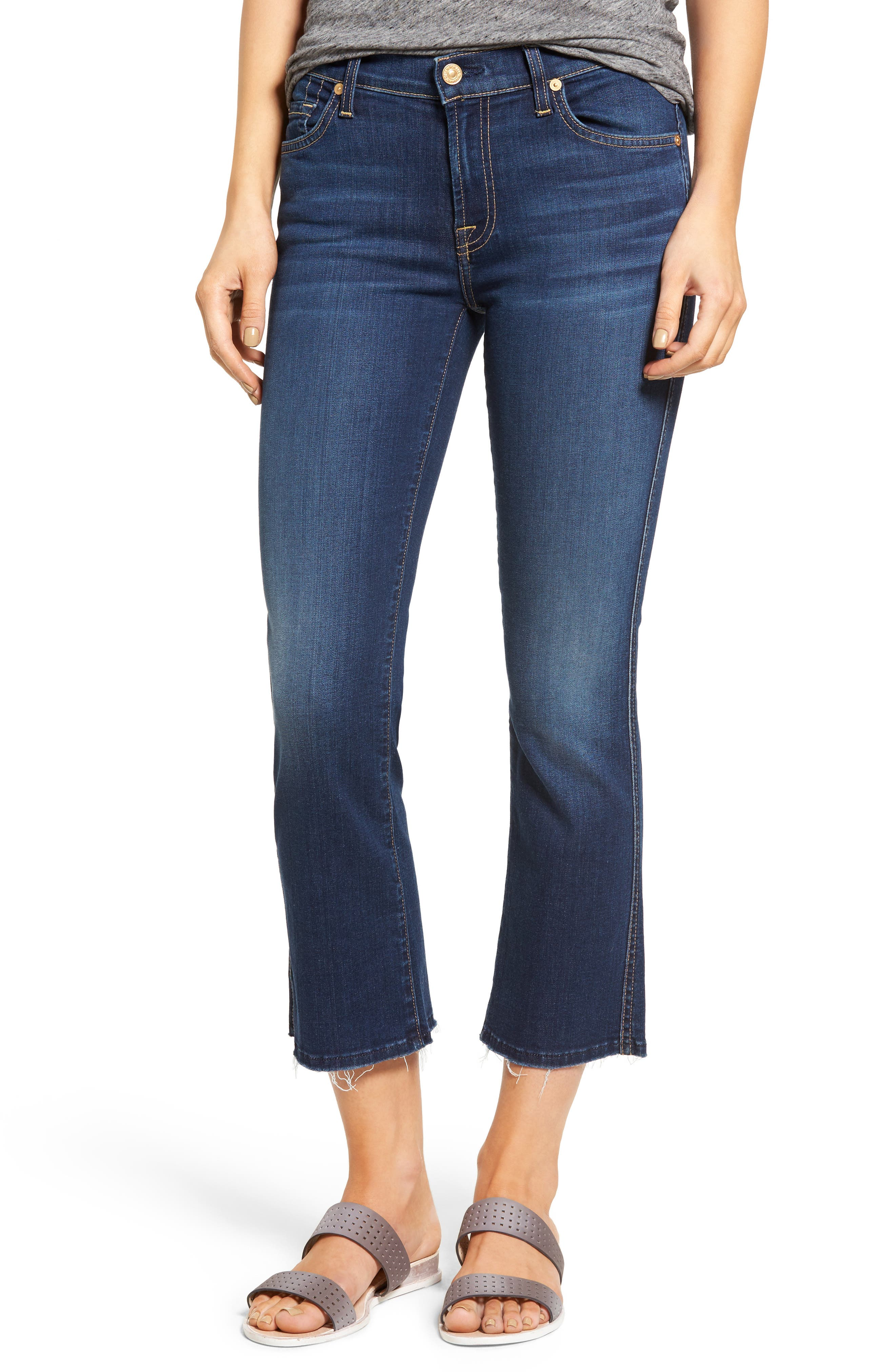 Main Image - 7 For All Mankind® b(air) Crop Bootcut Jeans (Bair Duchess)