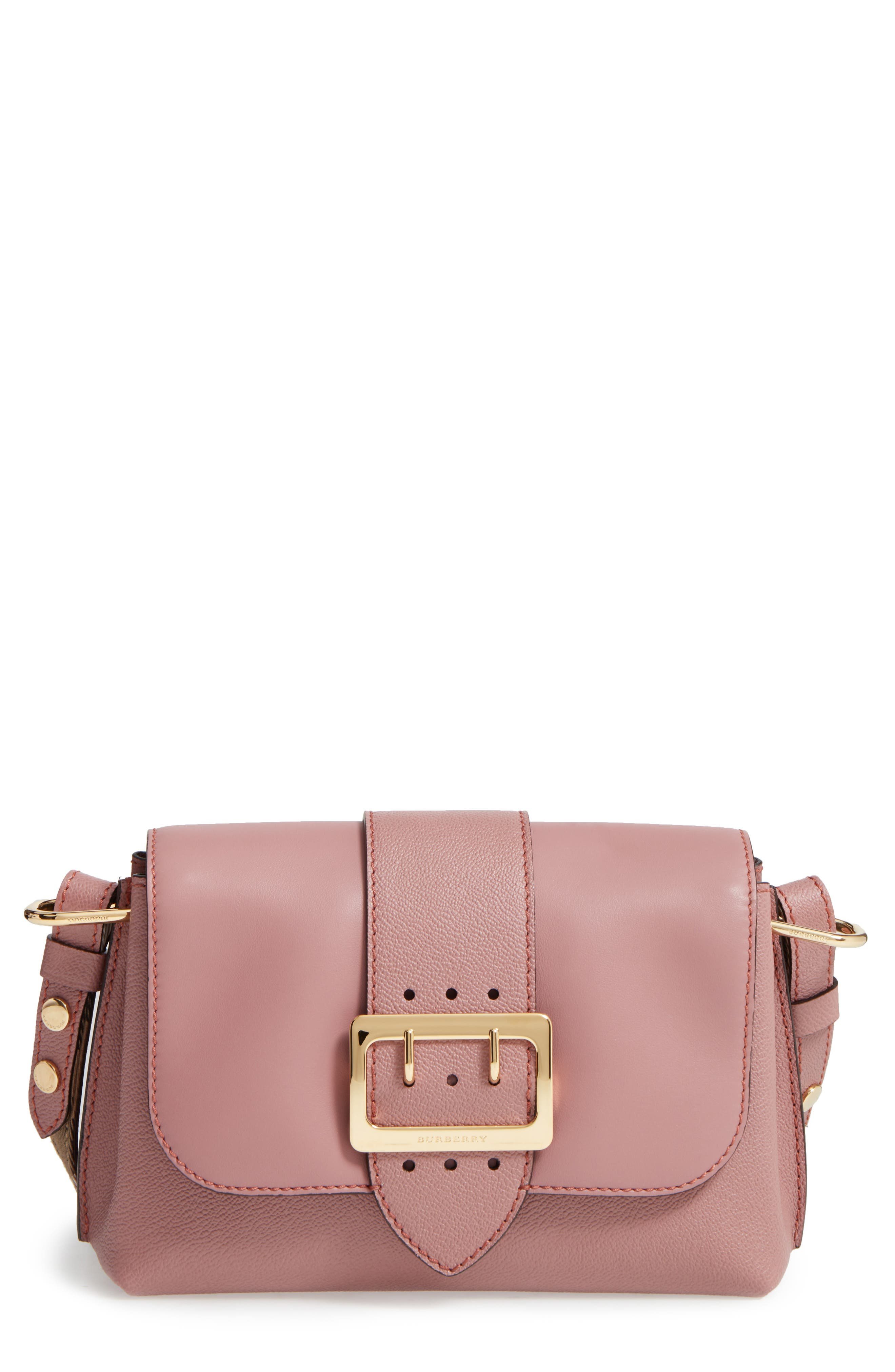 Small Medley Leather Shoulder Bag,                             Main thumbnail 1, color,                             Dusty Pink