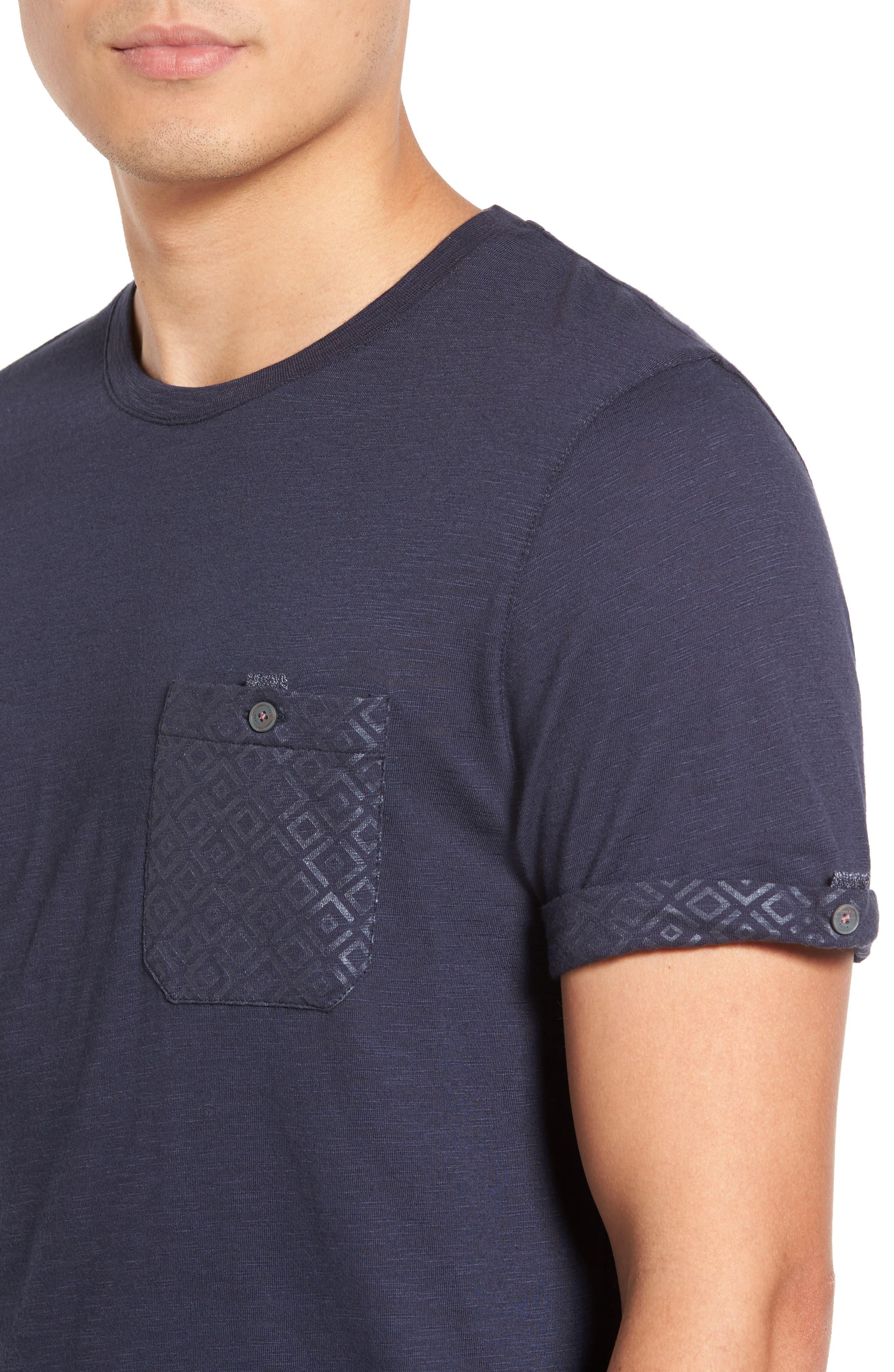 Alternate Image 4  - Ted Baker London Apel Print Pocket T-Shirt