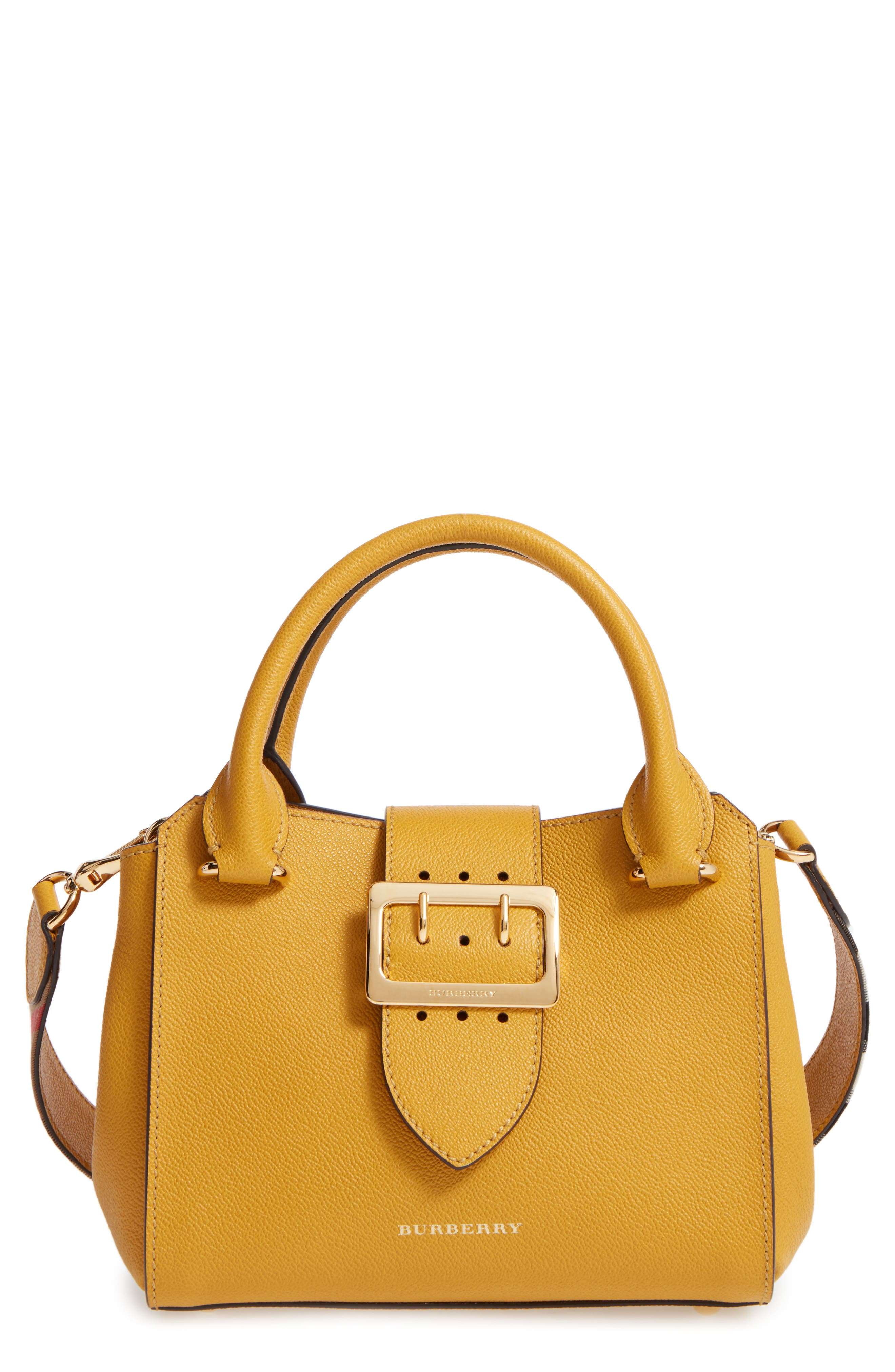 Alternate Image 1 Selected - Burberry Small Calfskin Leather Tote