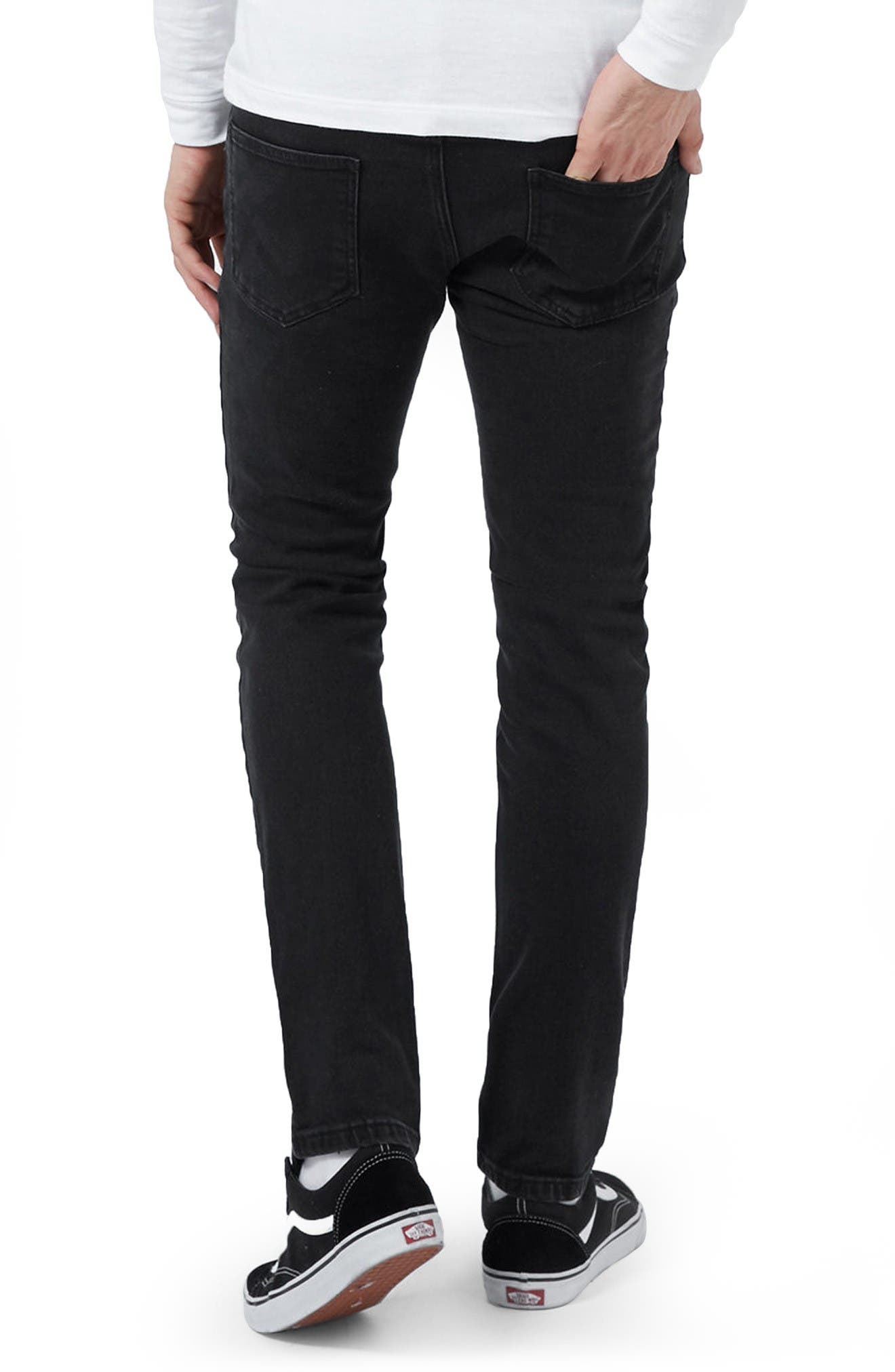 Alternate Image 3  - Topman Ripped Skinny Fit Jeans