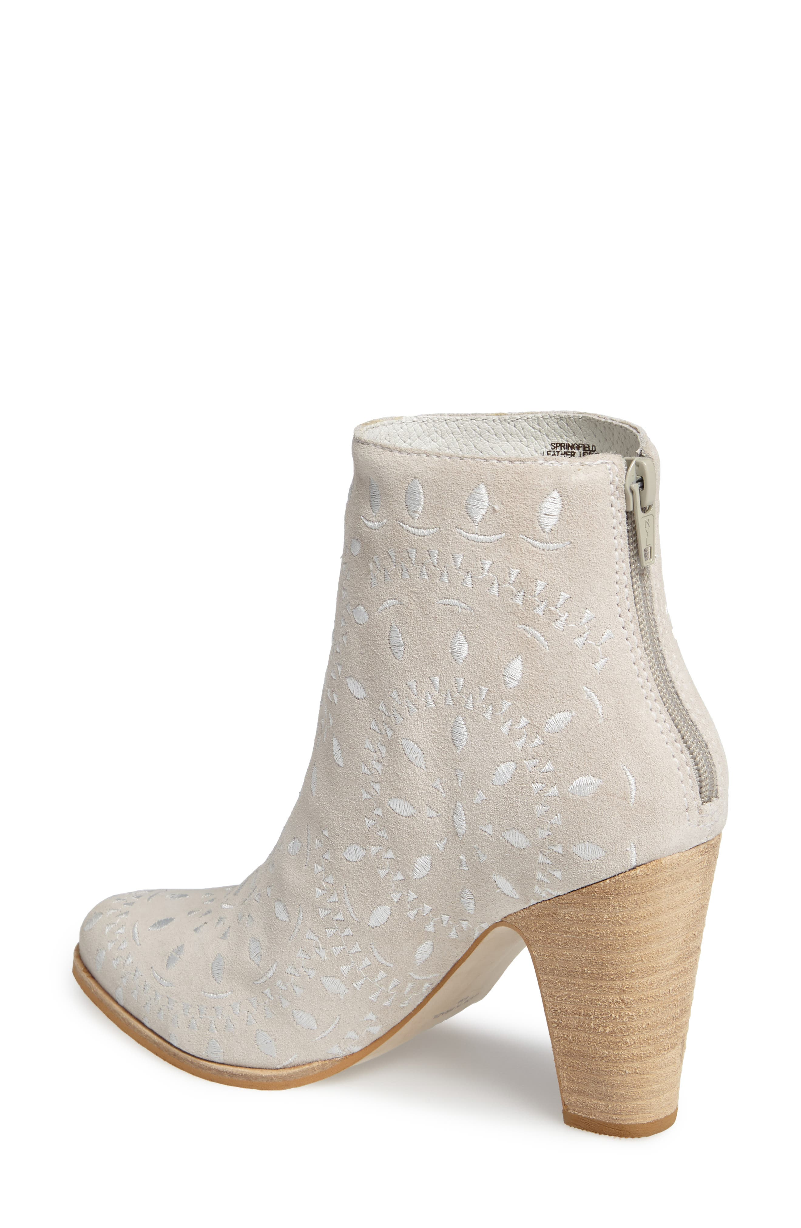 Springfield Bootie,                             Alternate thumbnail 2, color,                             Ivory Suede