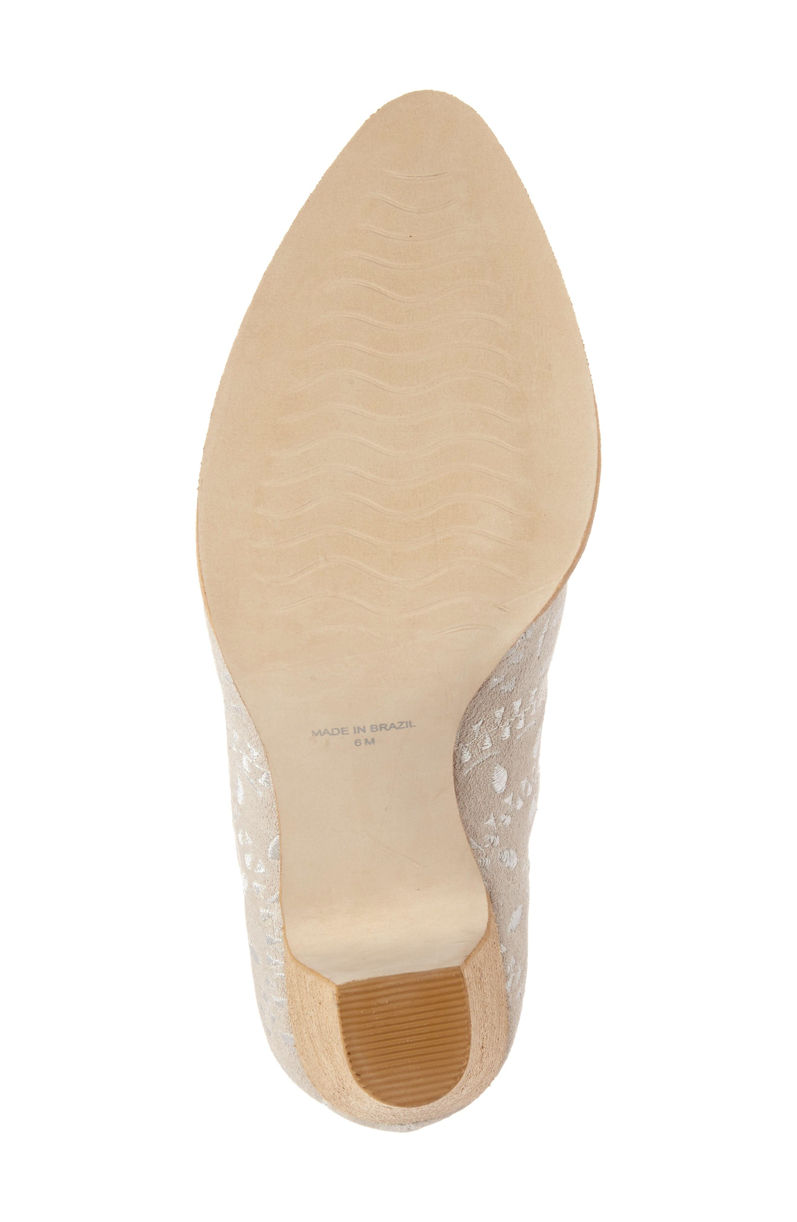 Springfield Bootie,                             Alternate thumbnail 5, color,                             Ivory Suede