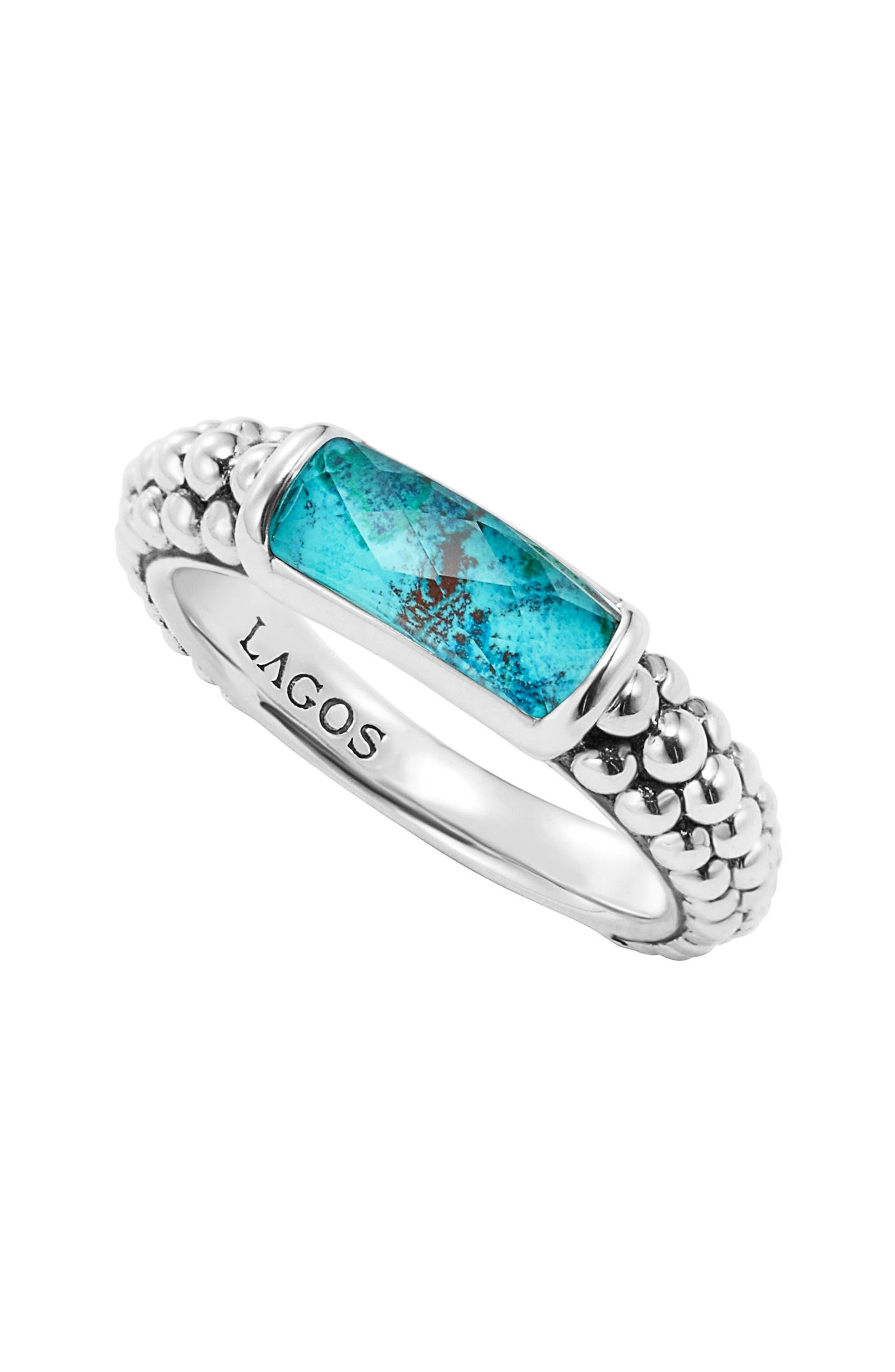 'Maya' Stackable Caviar Ring,                         Main,                         color, Chrysocolla
