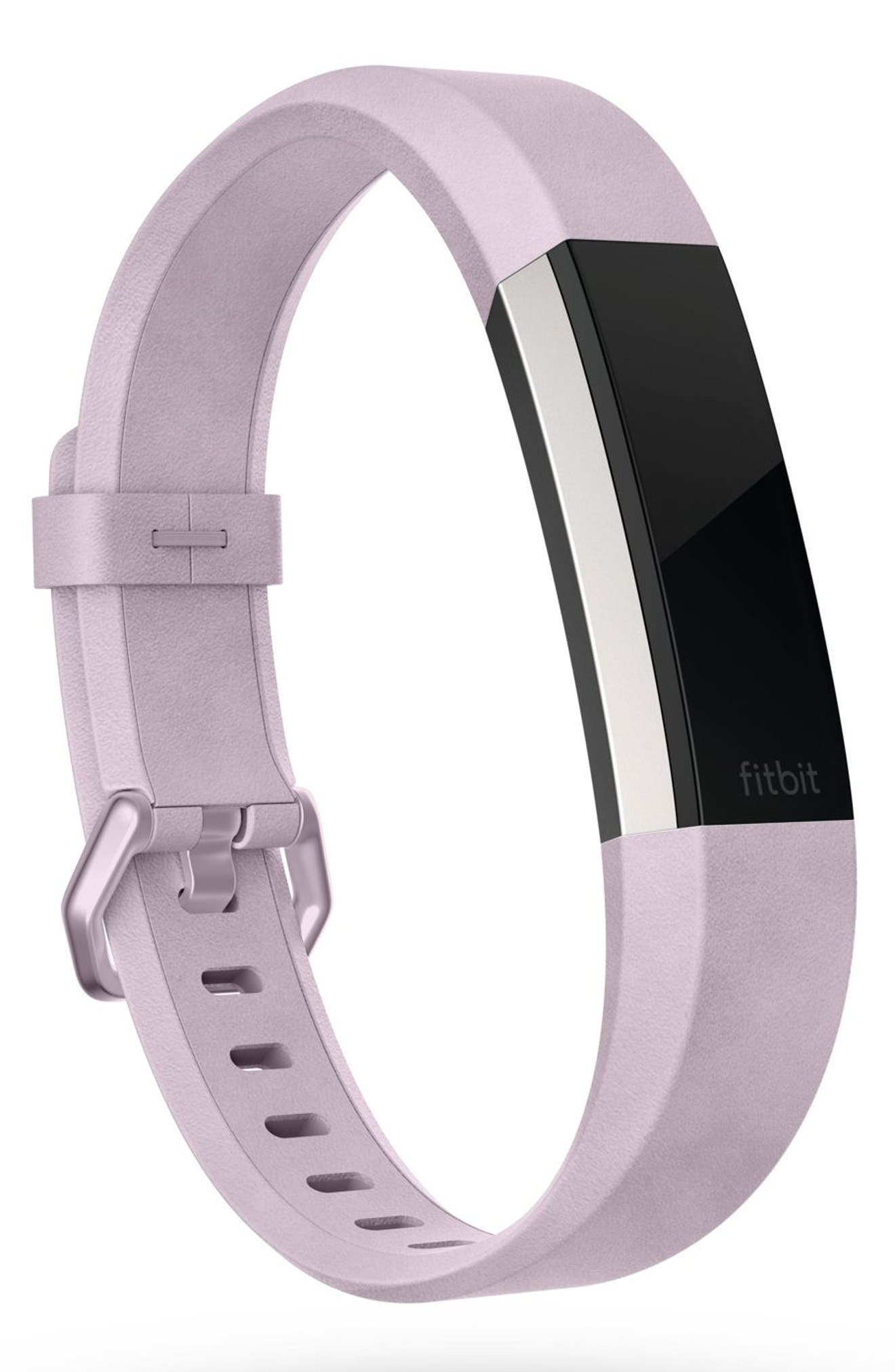 Alta HR Leather Accessory Band,                             Alternate thumbnail 2, color,                             Lavender
