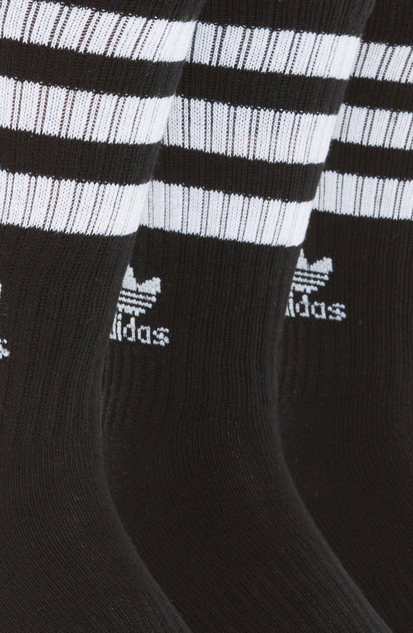 3-Pack Original Roller Crew Socks,                             Alternate thumbnail 2, color,                             Black/ White