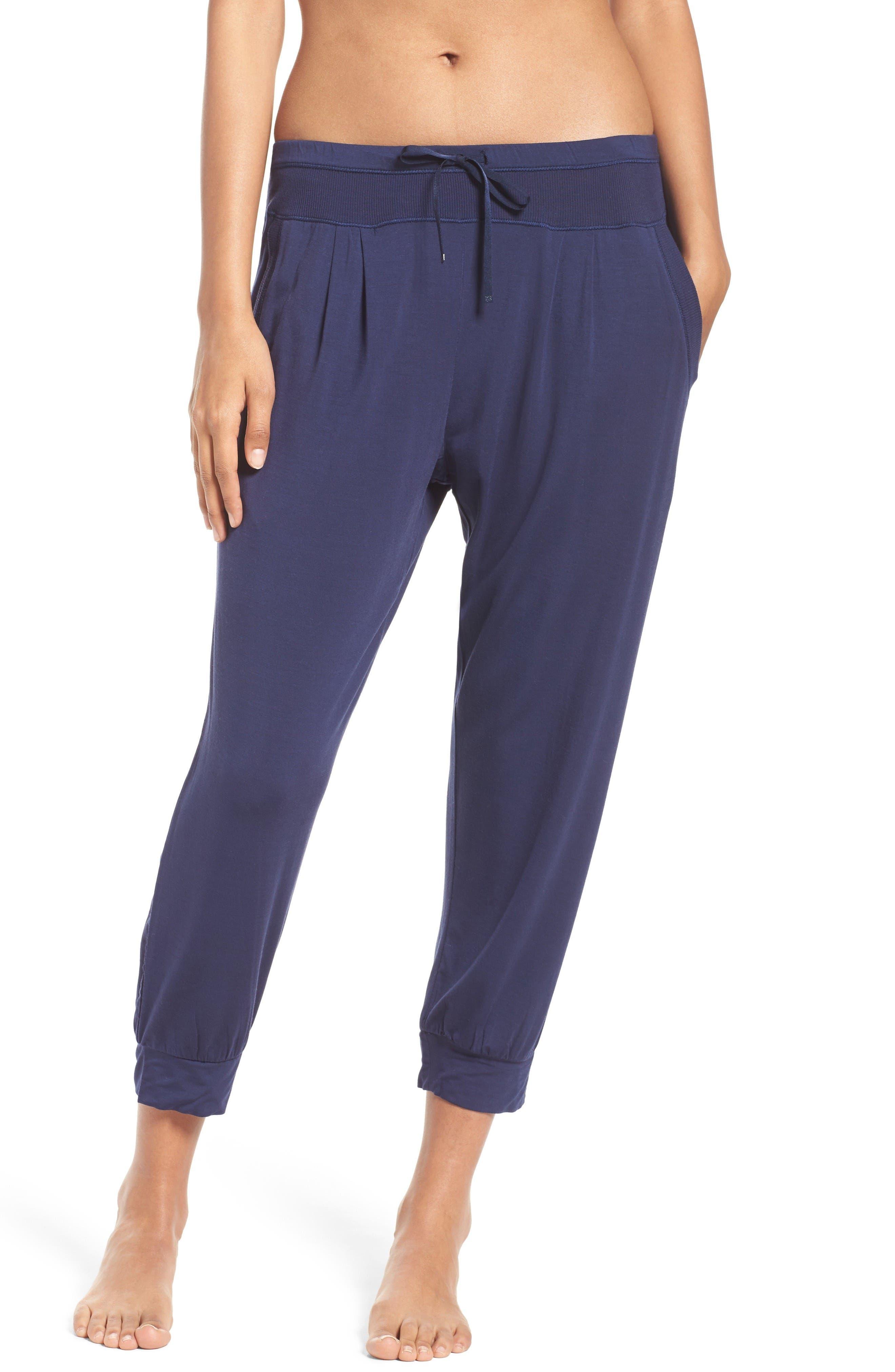 City Essentials Crop Pants,                         Main,                         color, Navy
