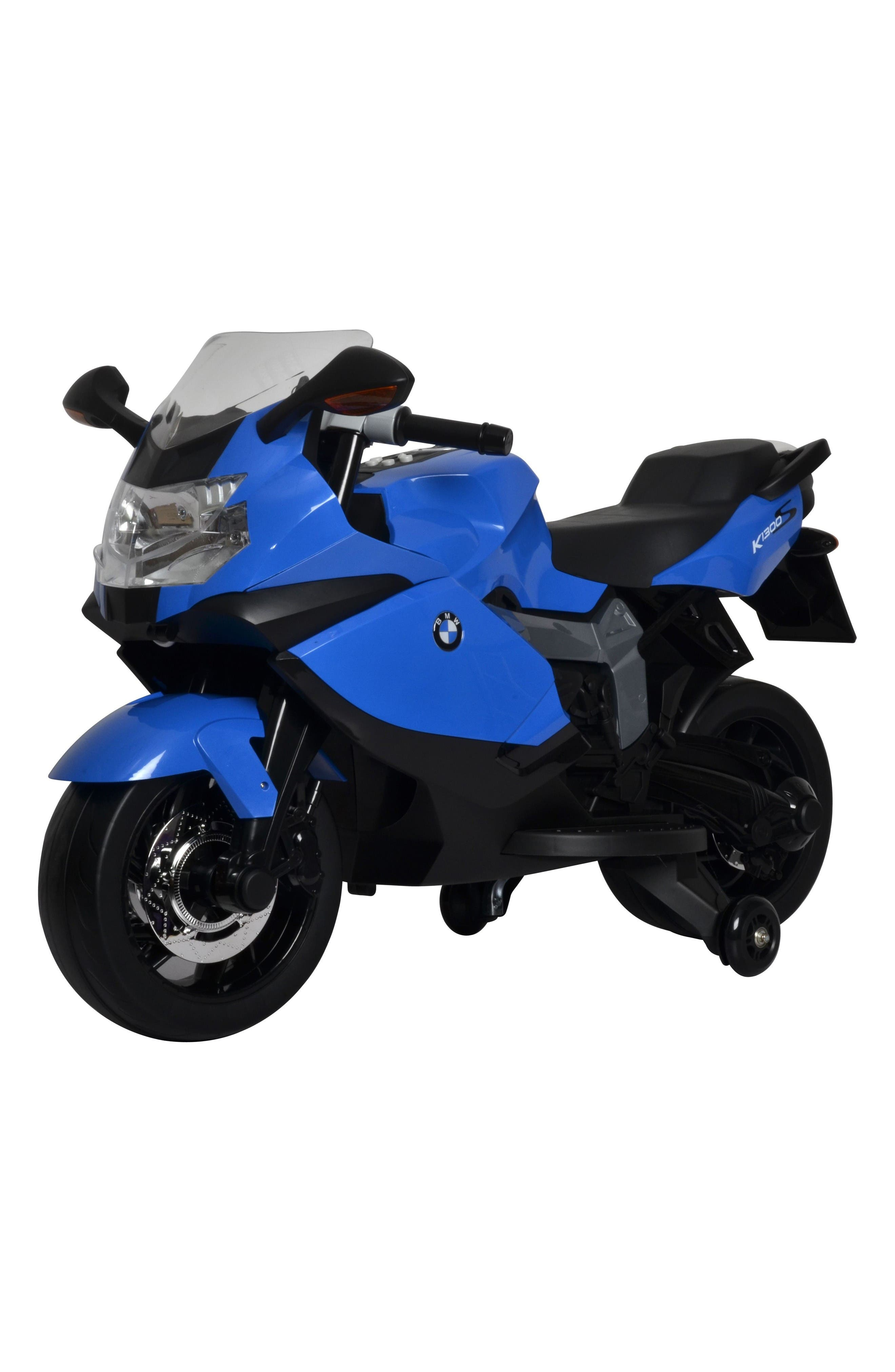 BMW Ride-On Toy Motorcycle,                         Main,                         color, Blue