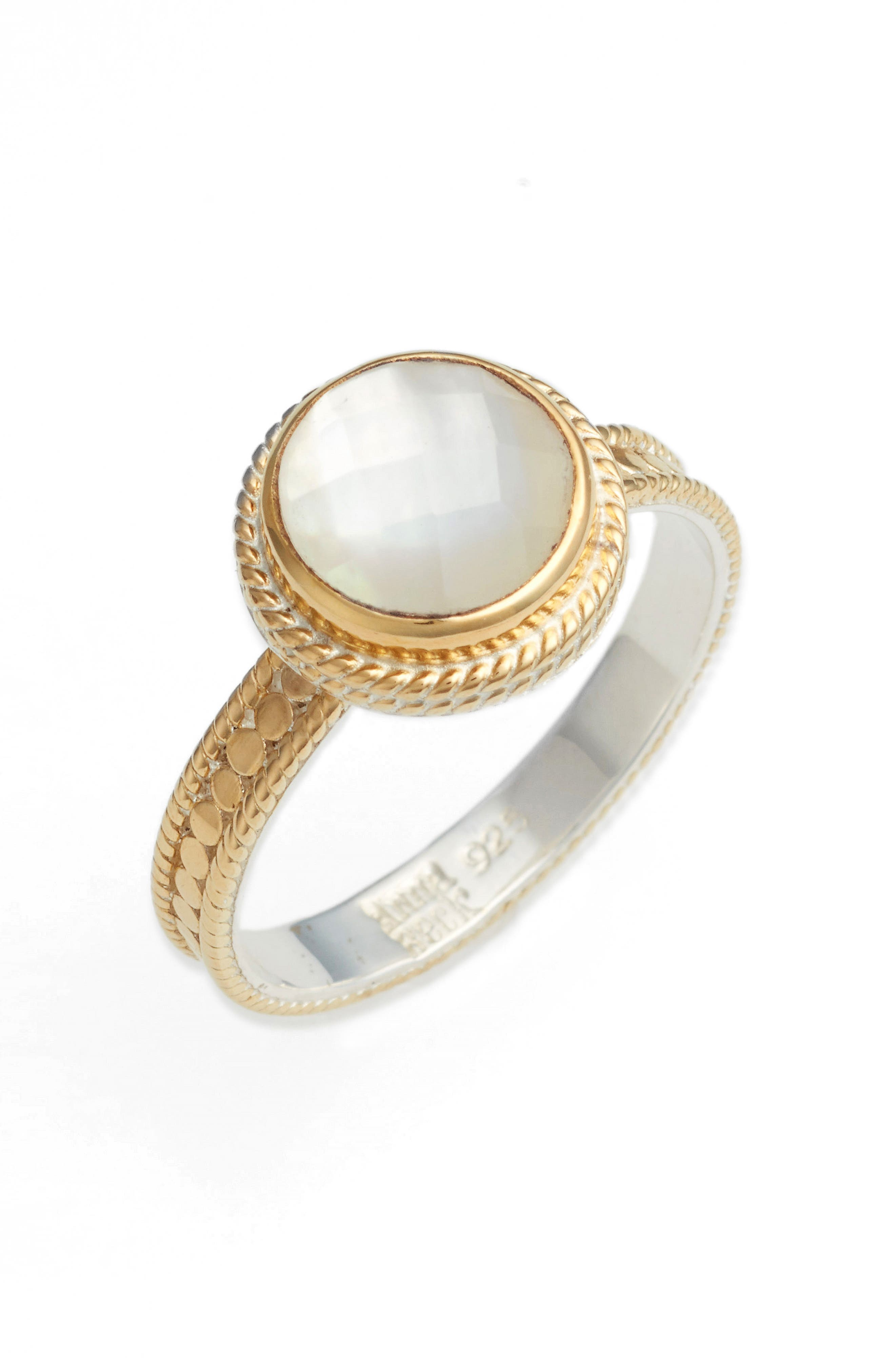 Semiprecious Stone Ring,                         Main,                         color, Mother Of Pearl