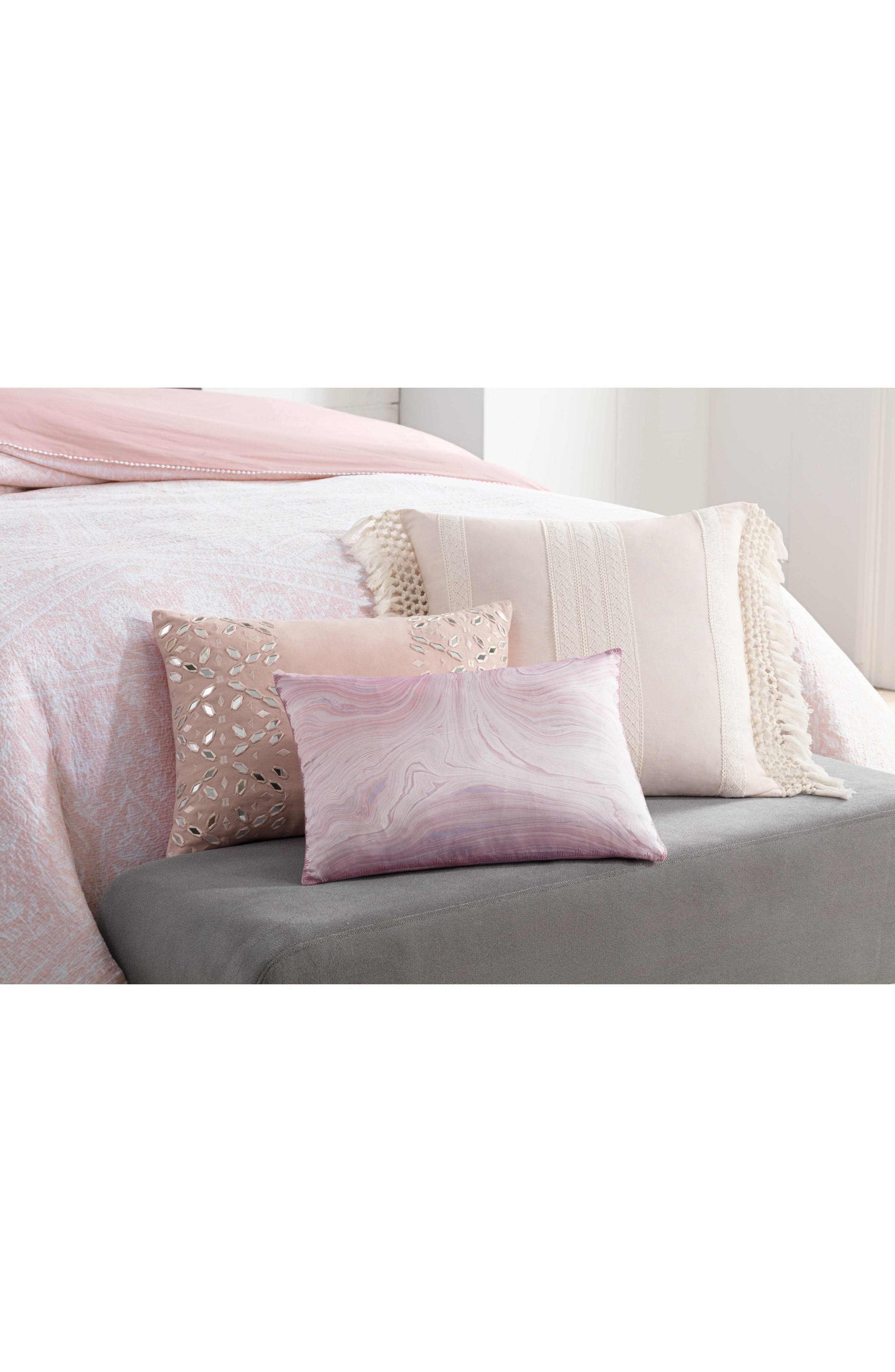 Overscale Tapestry Accent Pillow,                             Alternate thumbnail 2, color,                             Blush