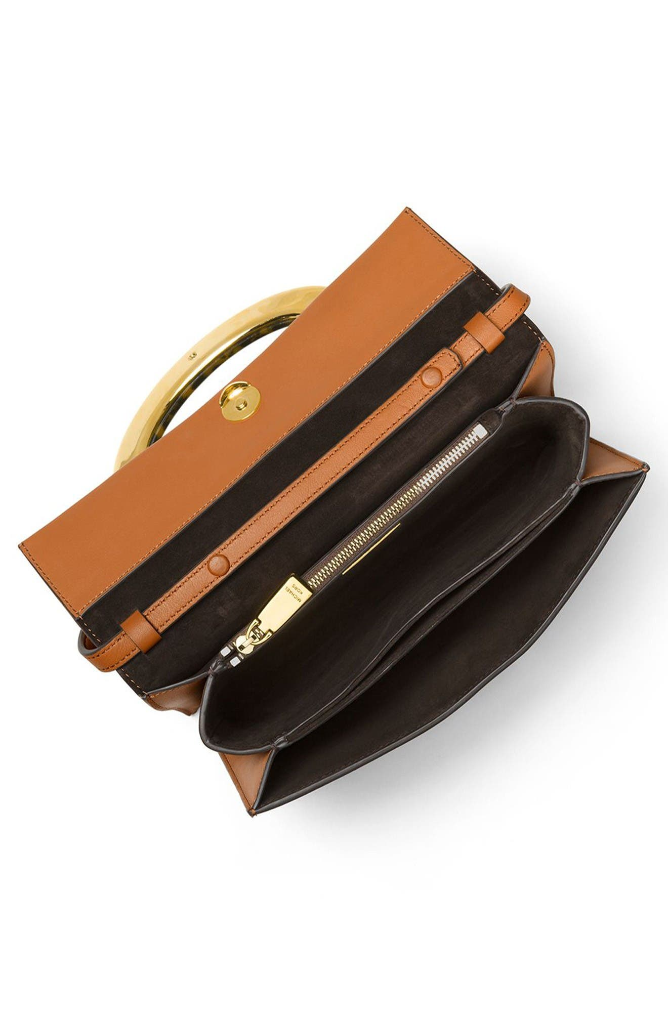 Alternate Image 2  - Michael Kors Baxter Calfskin Leather Convertible Clutch