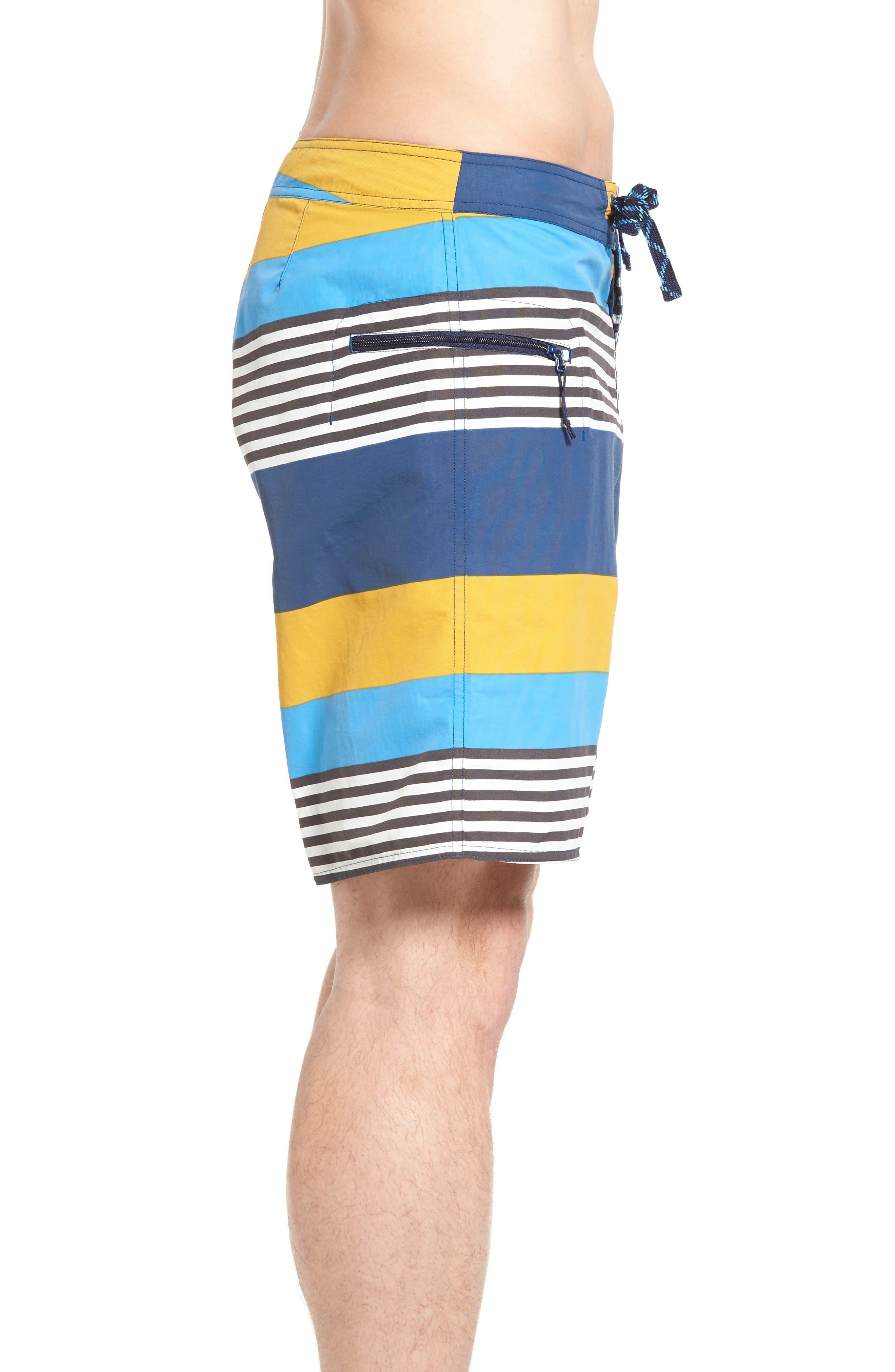 Wavefarer Board Shorts,                             Alternate thumbnail 3, color,                             Yurt Yellow