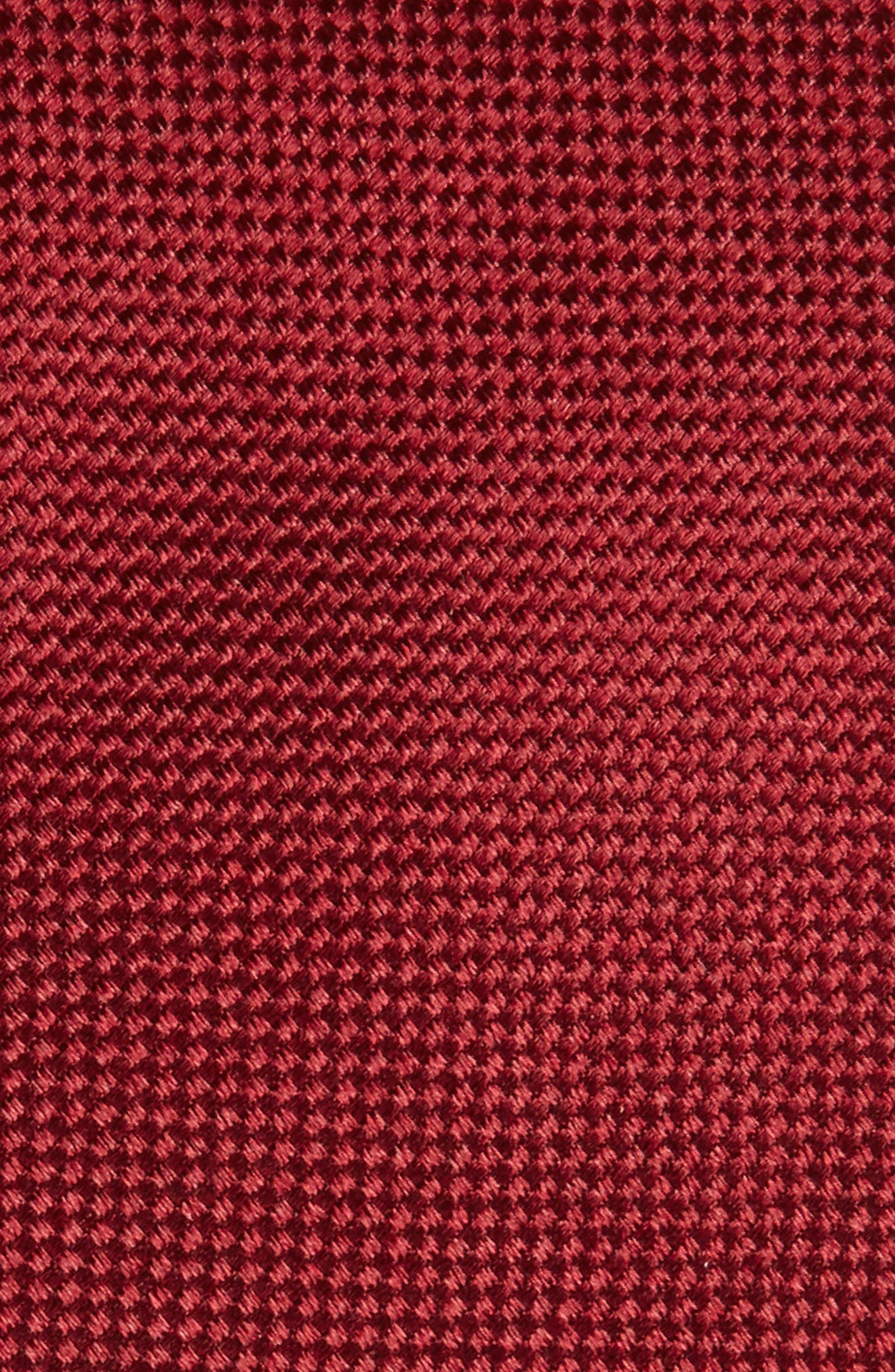 Solid Silk Tie,                             Alternate thumbnail 2, color,                             Burgundy
