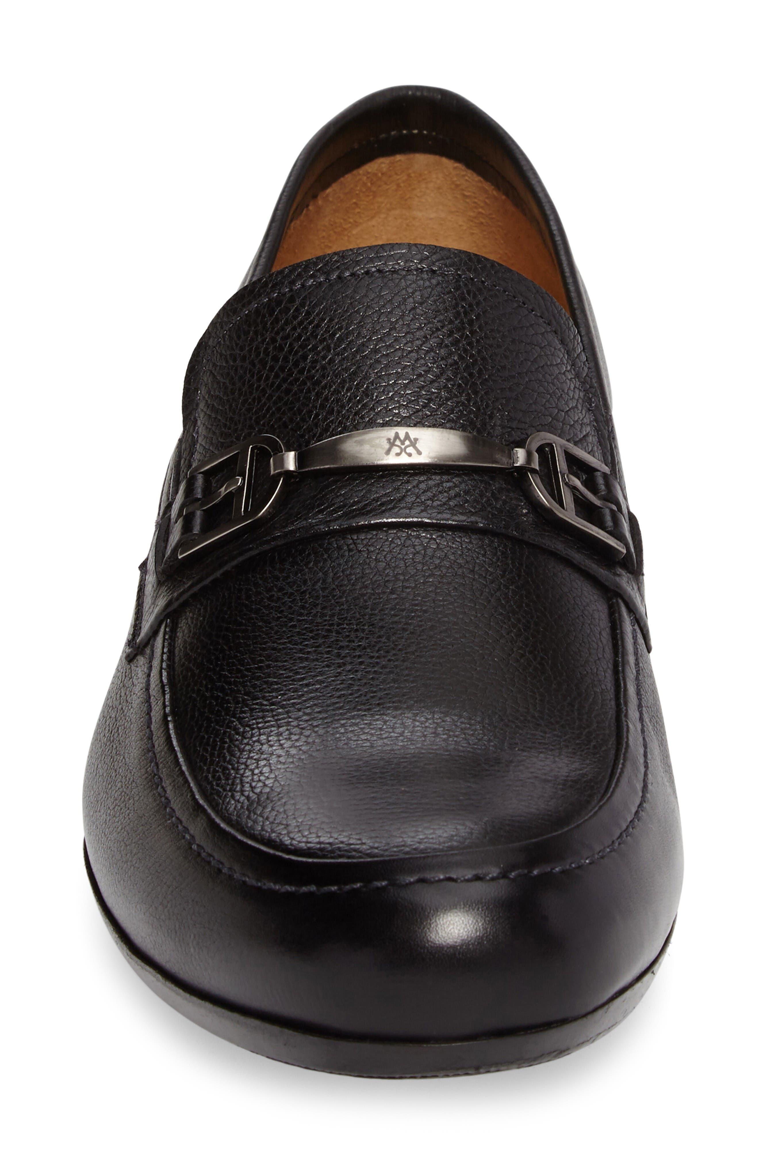 Binet Bit Loafer,                             Alternate thumbnail 4, color,                             Black Leather