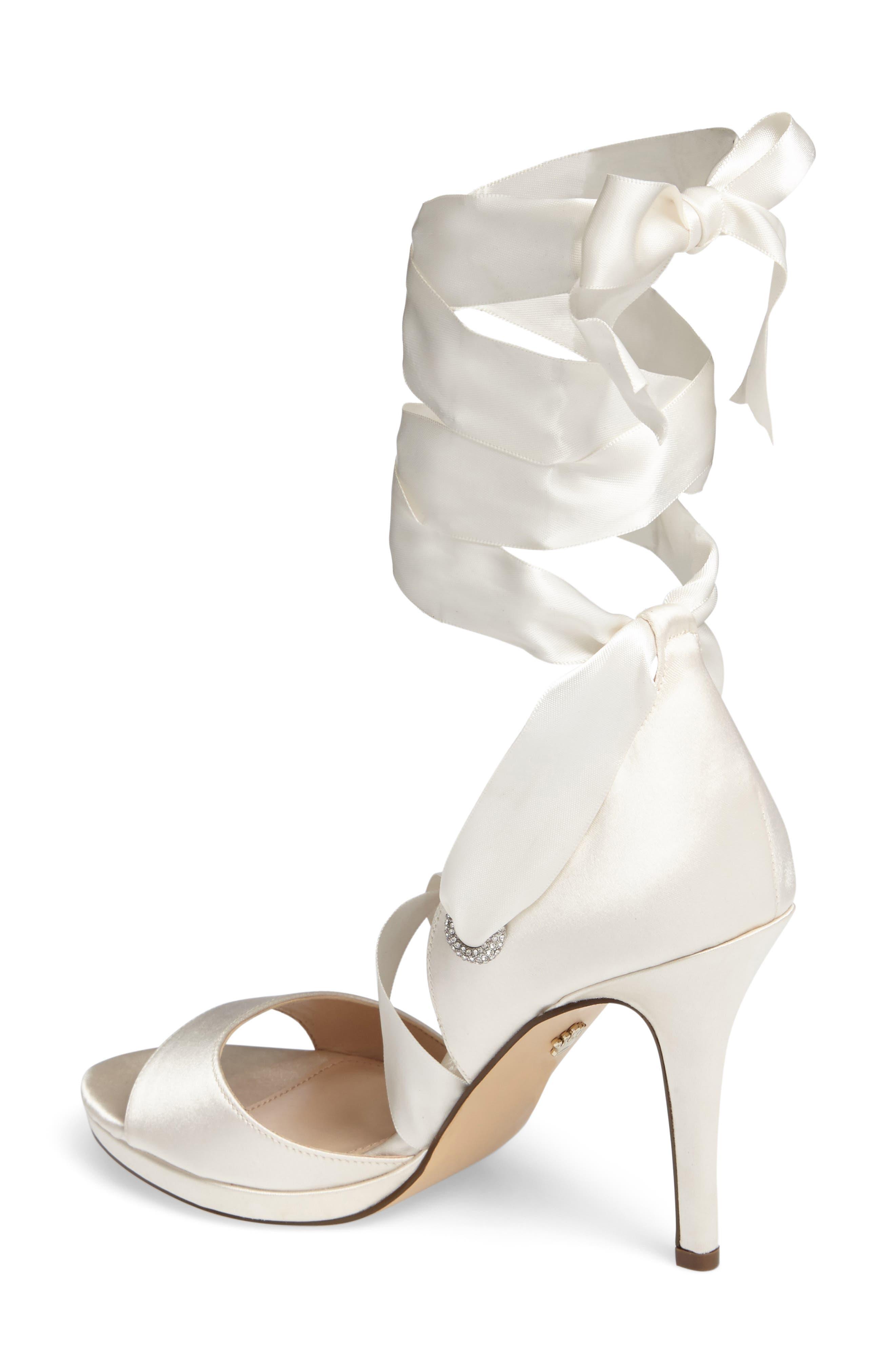 Alternate Image 2  - Nina Ramira Ankle Tie Sandal (Women)