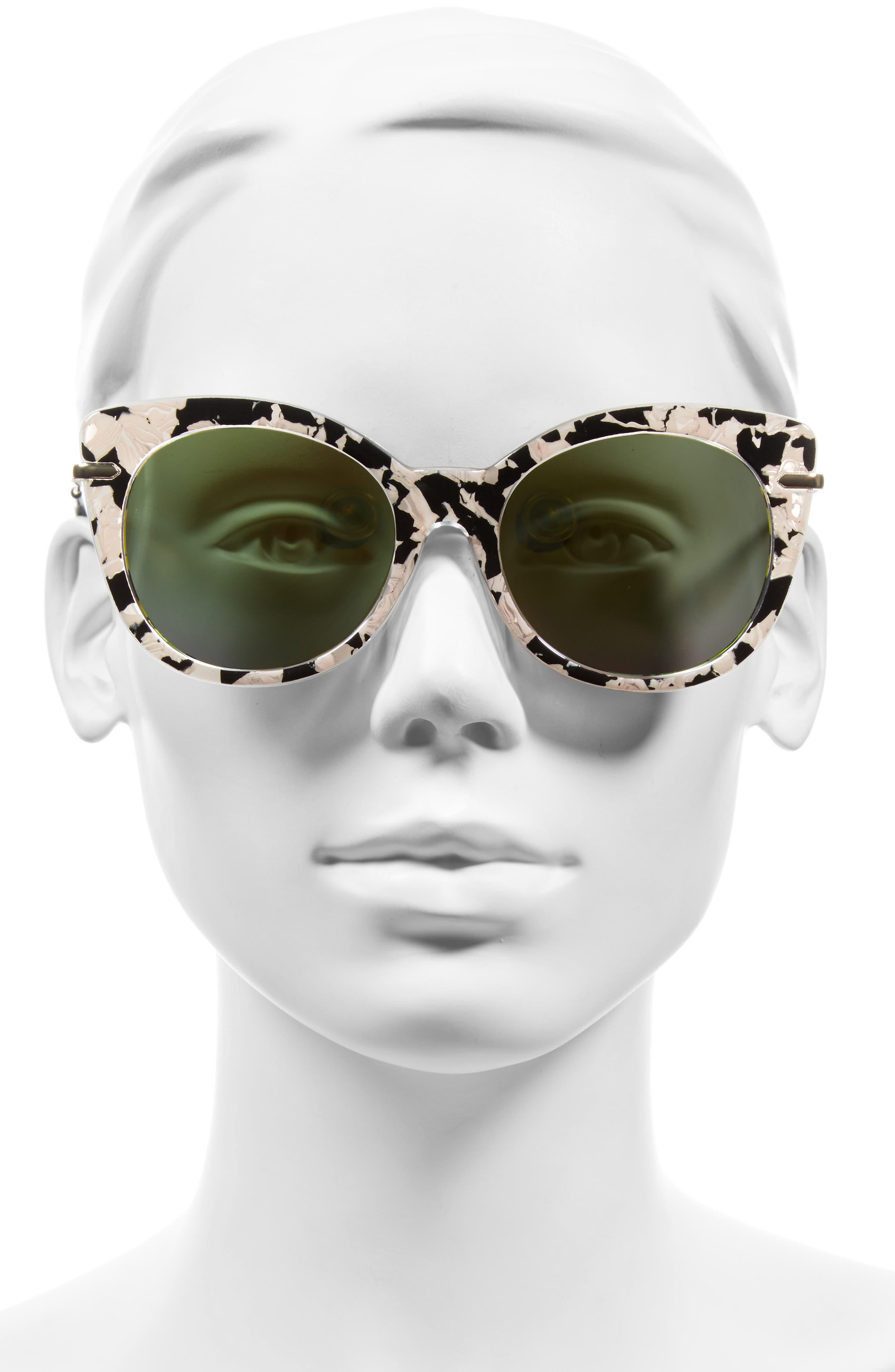 Alternate Image 2  - BP. Kitty 52mm Mirrored Cat Eye Sunglasses