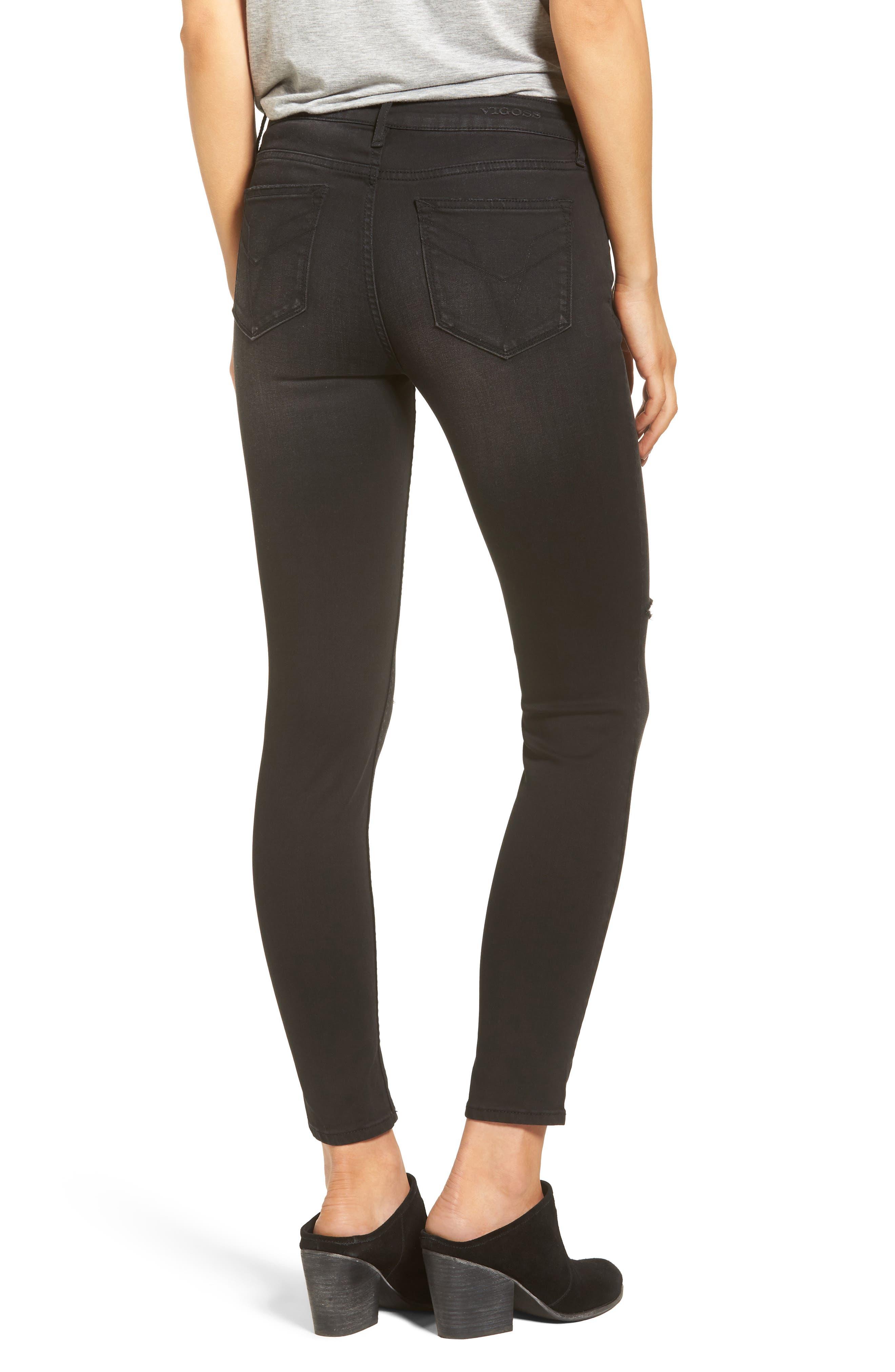 Alternate Image 2  - Vigoss Chelsea Ripped Skinny Jeans