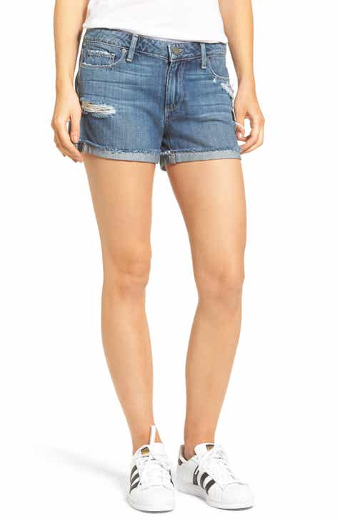 BLANKNYC Great White Cutoff Denim Shorts (Mont Blanc) by BLANKNYC