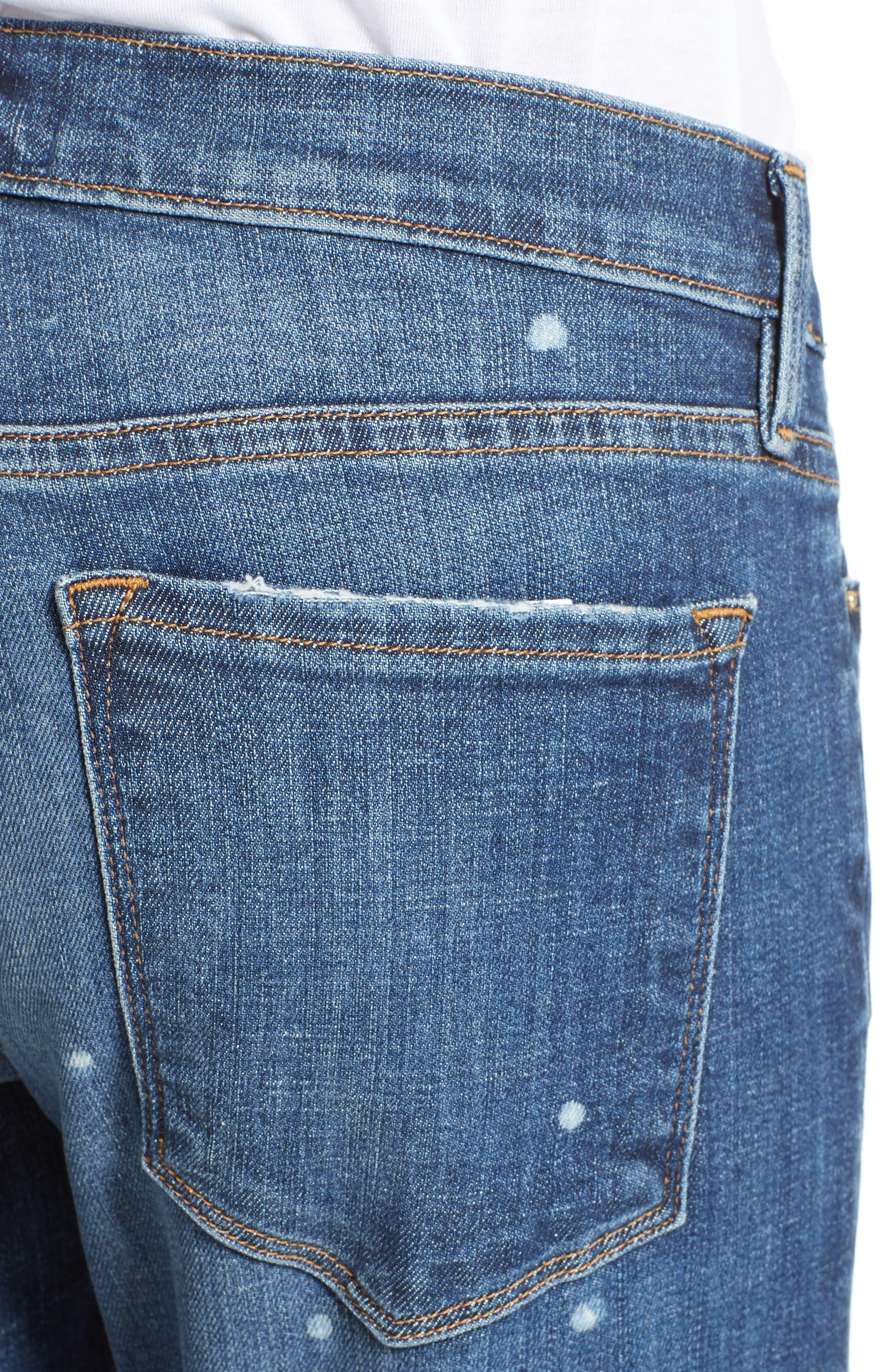 Alternate Image 4  - FRAME Le Garcon Slim Zip Hem Jeans (Marion)