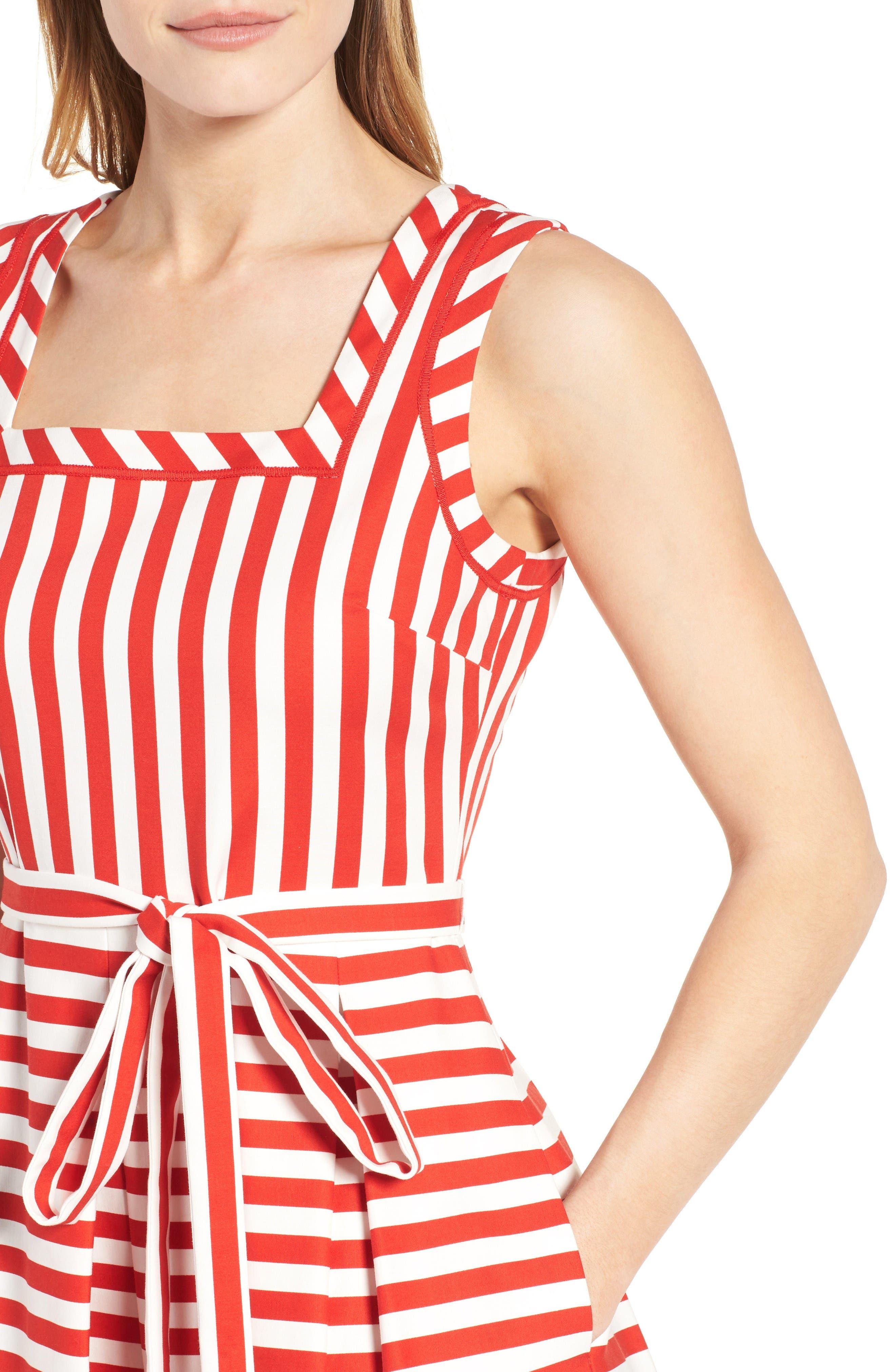 Alternate Image 4  - Anne Klein Stripe Fit & Flare Dress