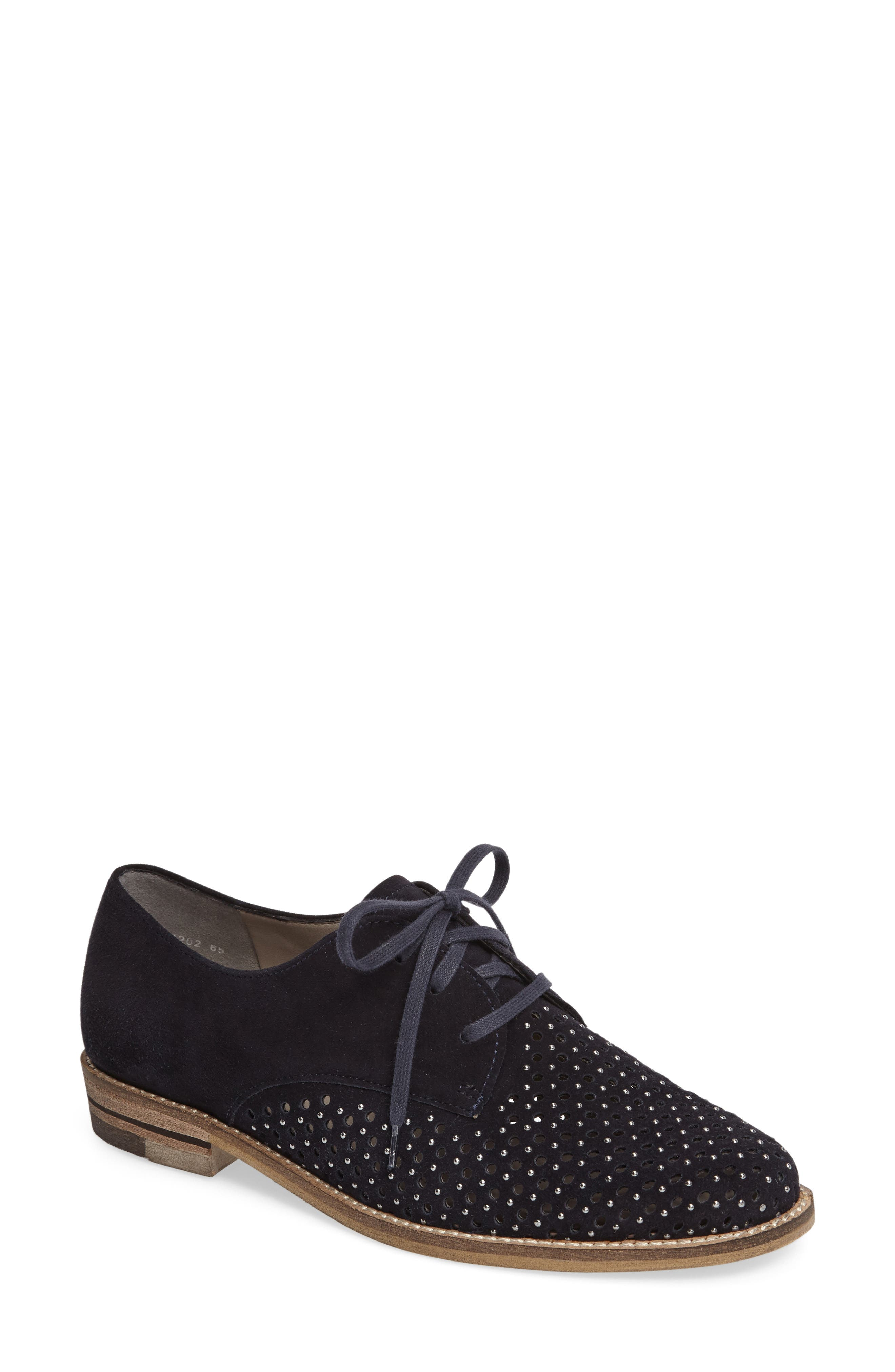 Kyleigh Studded Oxford,                             Main thumbnail 1, color,                             Midnight Suede