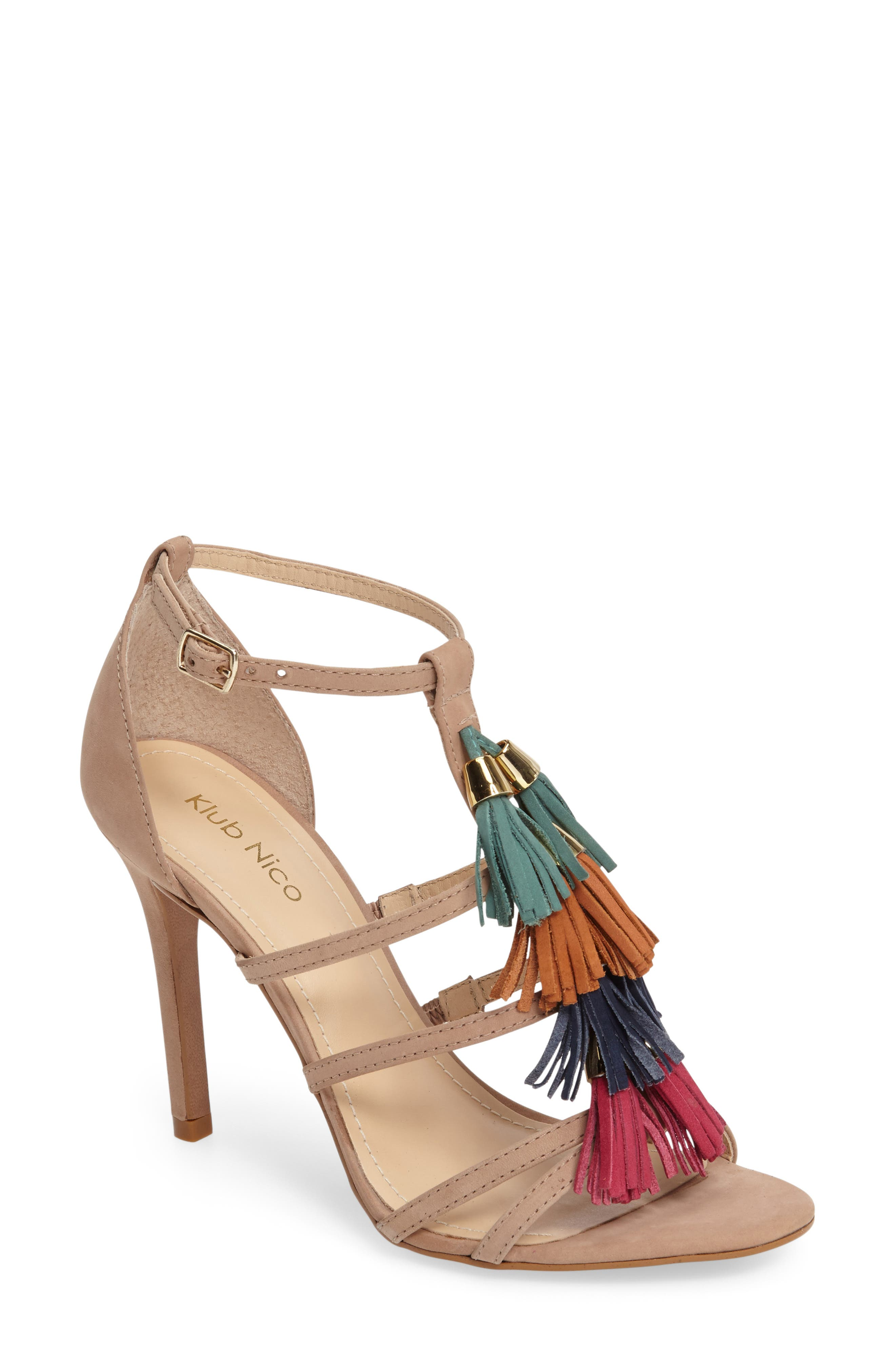 Alternate Image 1 Selected - Klub Nico Myra Tassel Sandal (Women)
