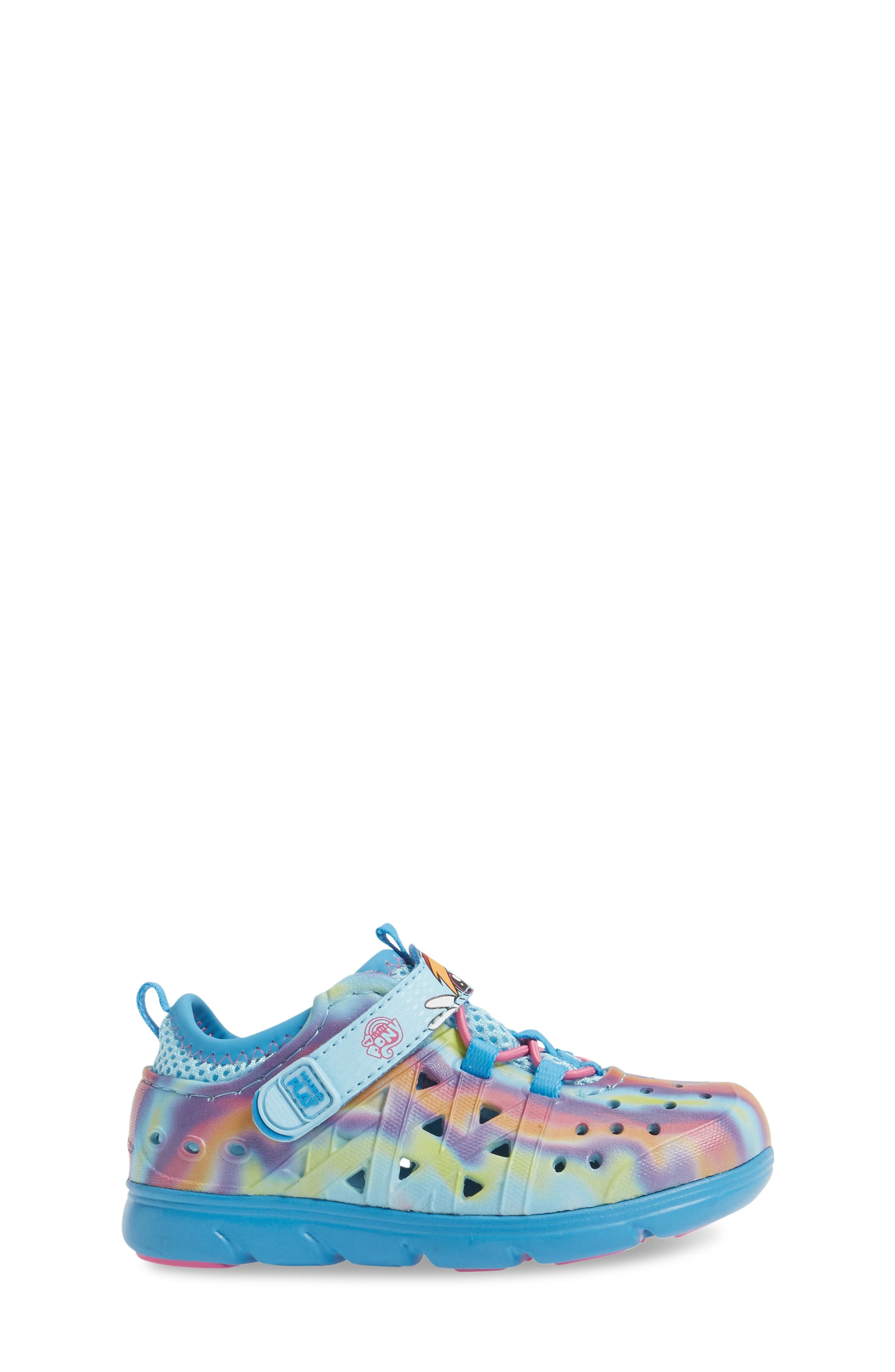 Made2Play<sup>®</sup> My Little Pony<sup>™</sup> Phibian Sneaker,                             Alternate thumbnail 3, color,                             Rainbow Turquoise