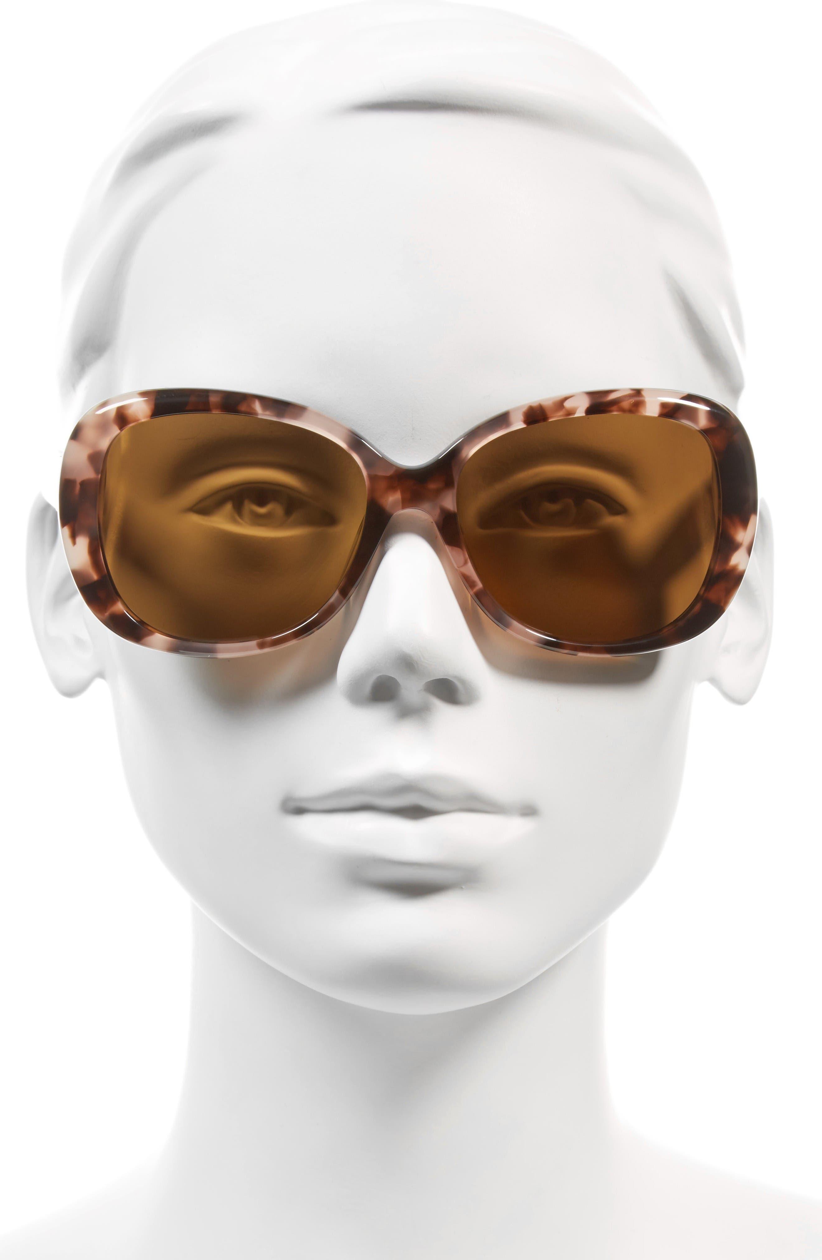 judyann 56mm Sunglasses,                             Alternate thumbnail 2, color,                             Pink/ Havana