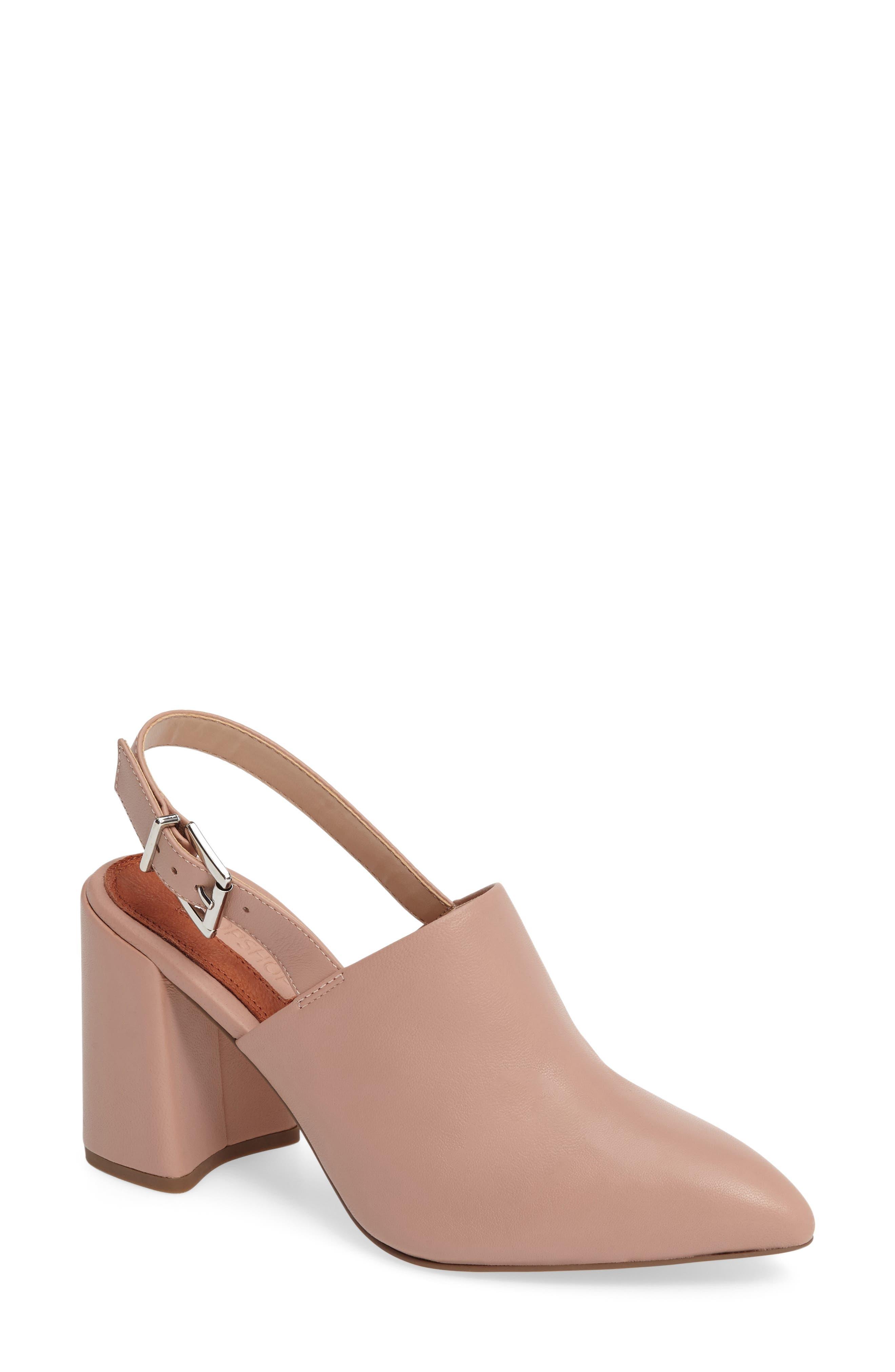 Groove Block Heel Pump,                         Main,                         color, Light Pink