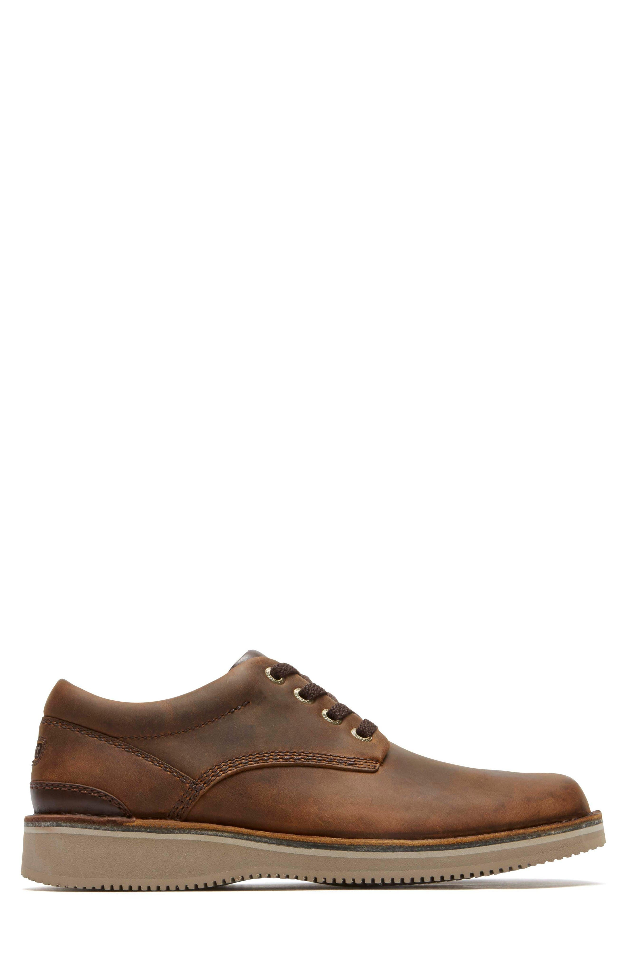 'Prestige Point' Plain Toe Derby,                             Alternate thumbnail 3, color,                             Beeswax Leather