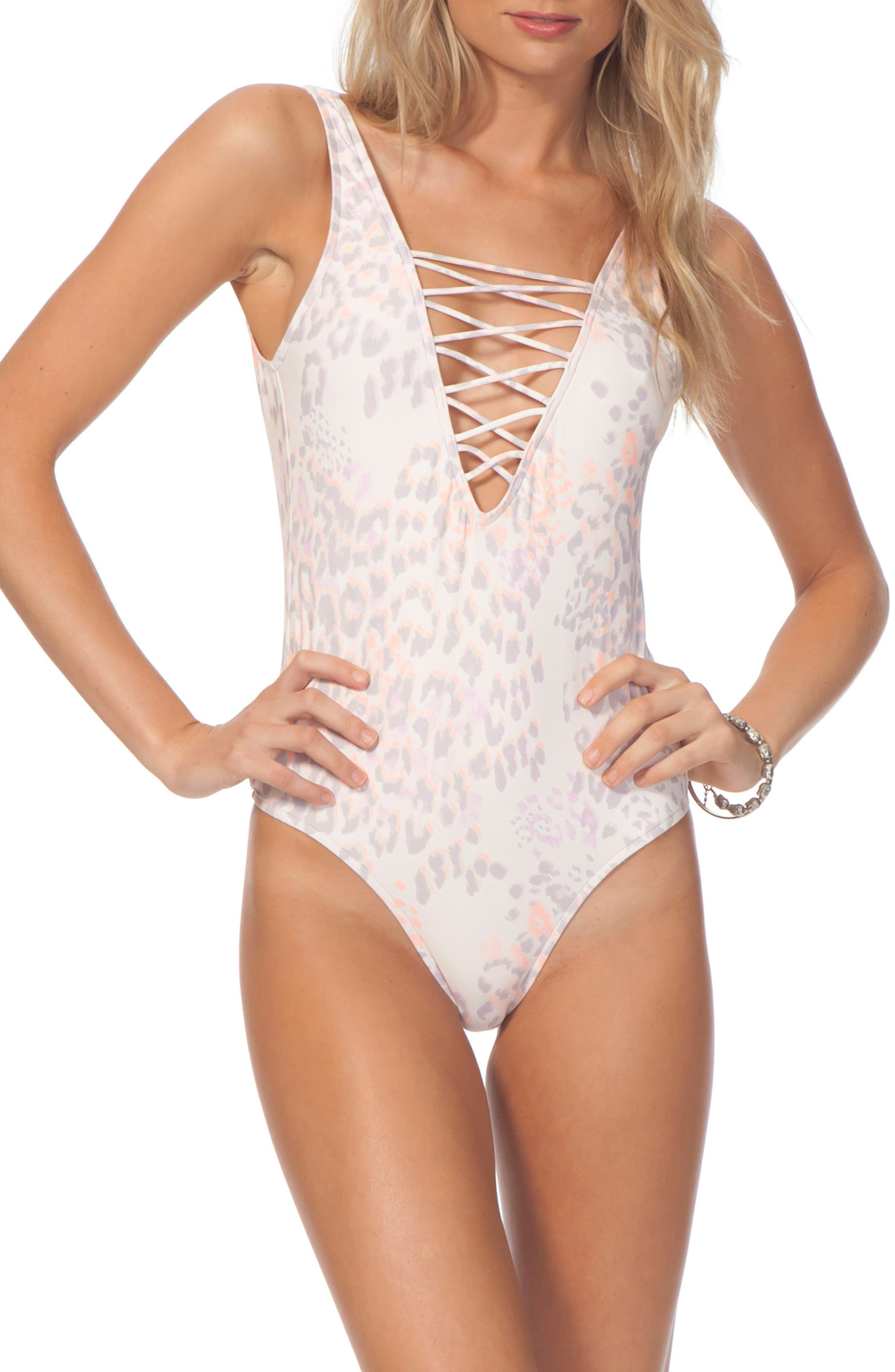 Alternate Image 1 Selected - Rip Curl Animalia One-Piece Swimsuit
